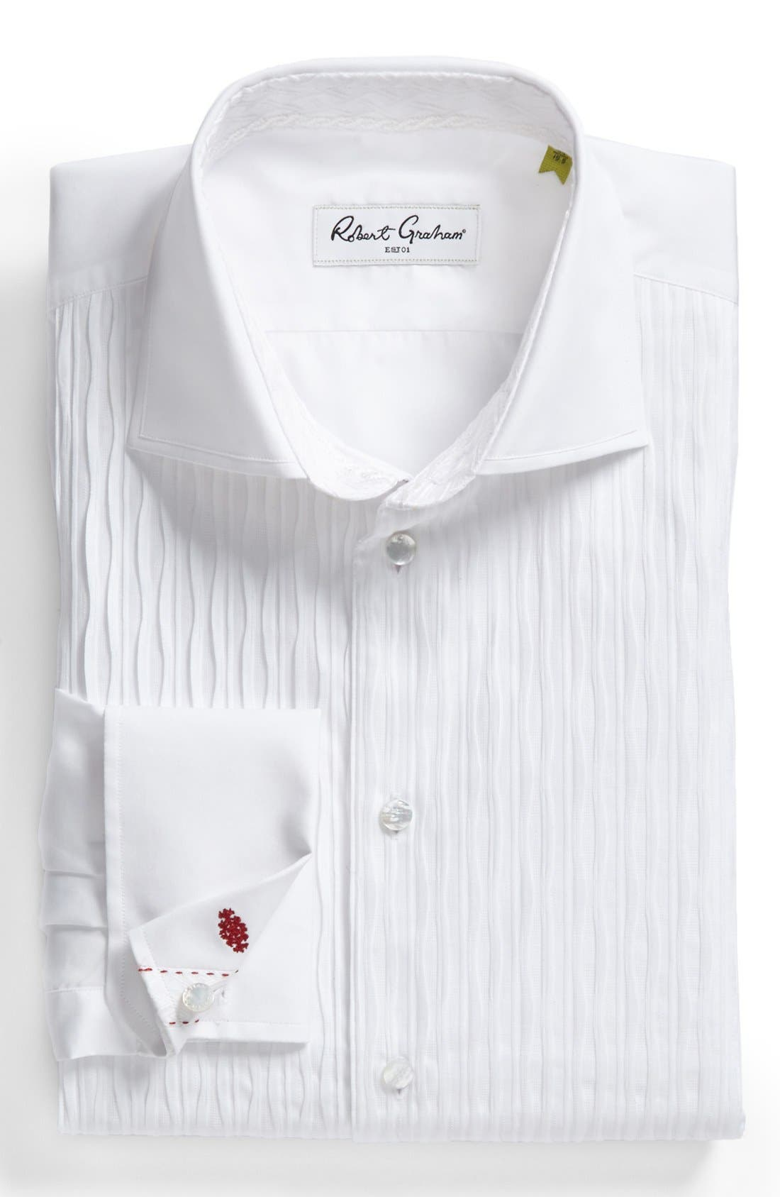 Regular Fit Tuxedo Shirt, Main, color, 100