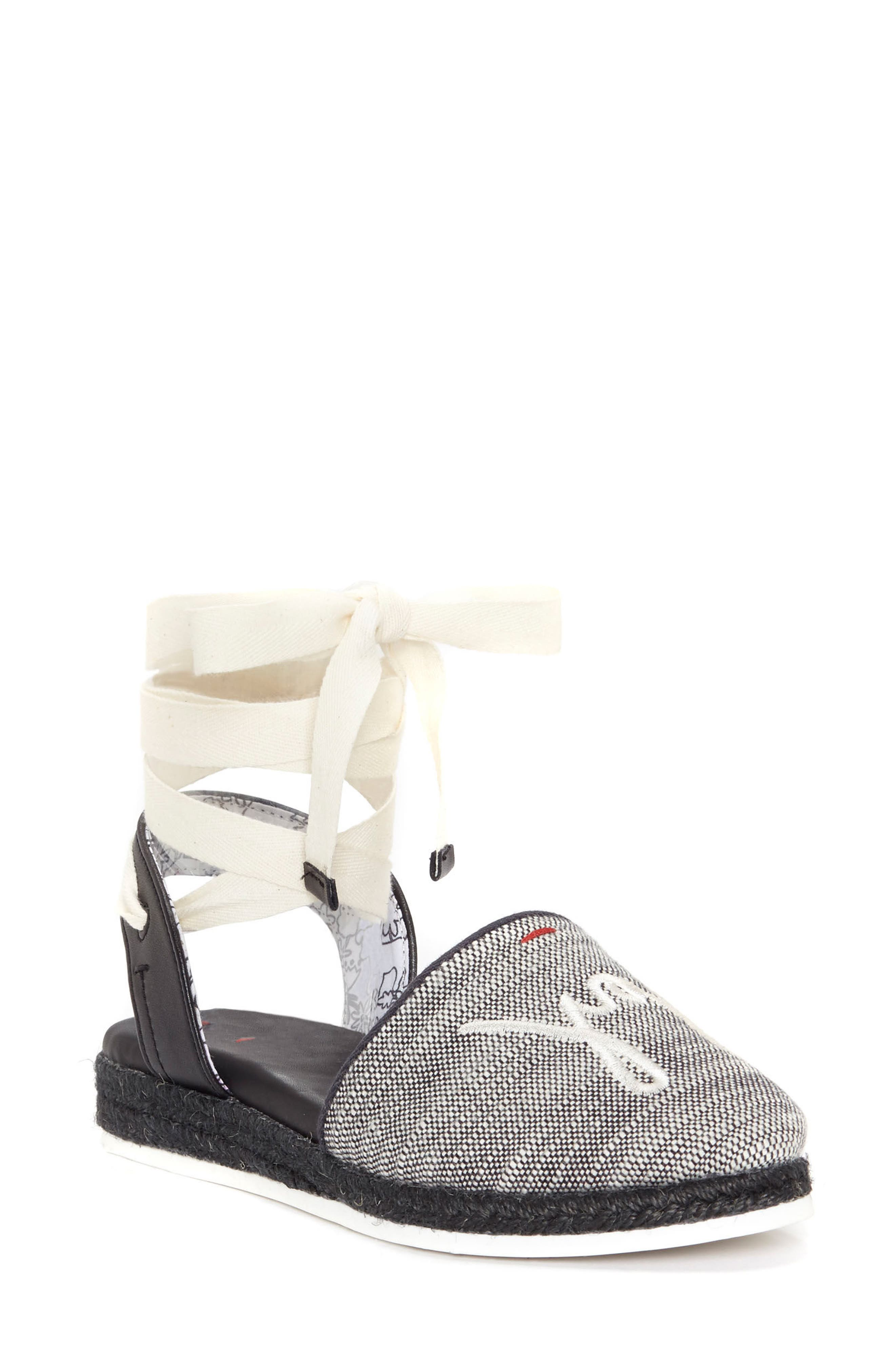 Lourana Ankle Wrap Espadrille,                         Main,                         color, 003