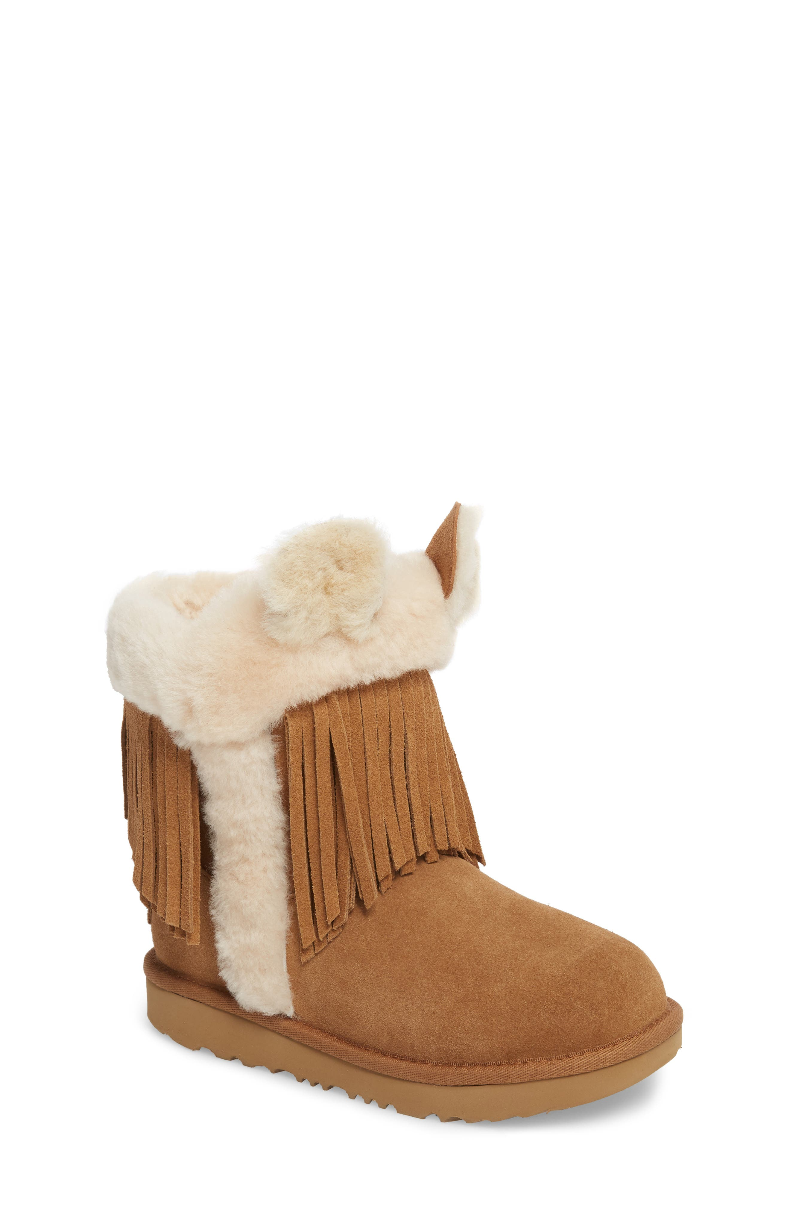 Darlala Classic II Genuine Shearling Boot,                             Main thumbnail 1, color,                             CHESTNUT