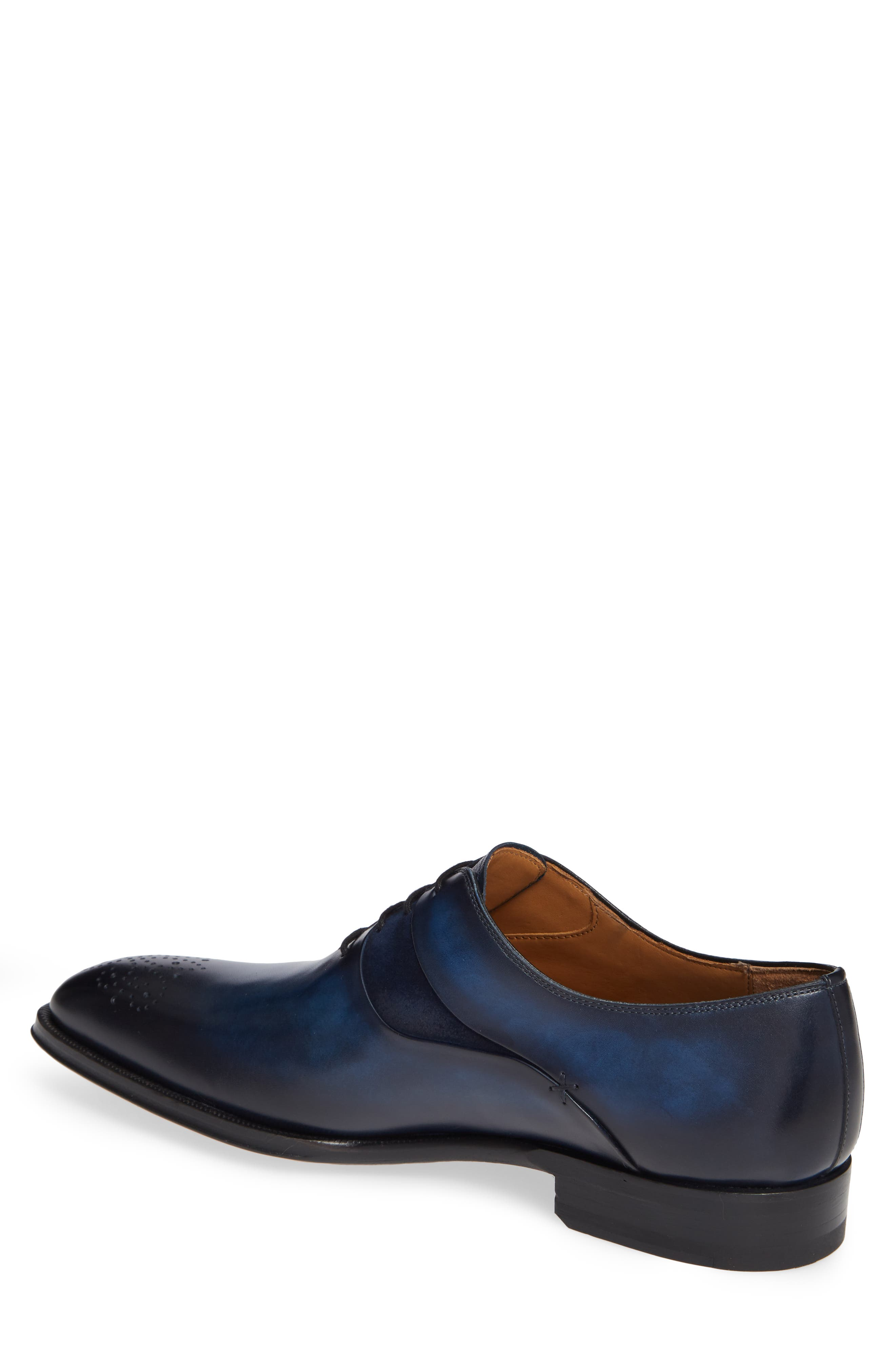 Hector Plain Toe Oxford,                             Alternate thumbnail 2, color,                             NAVY LEATHER