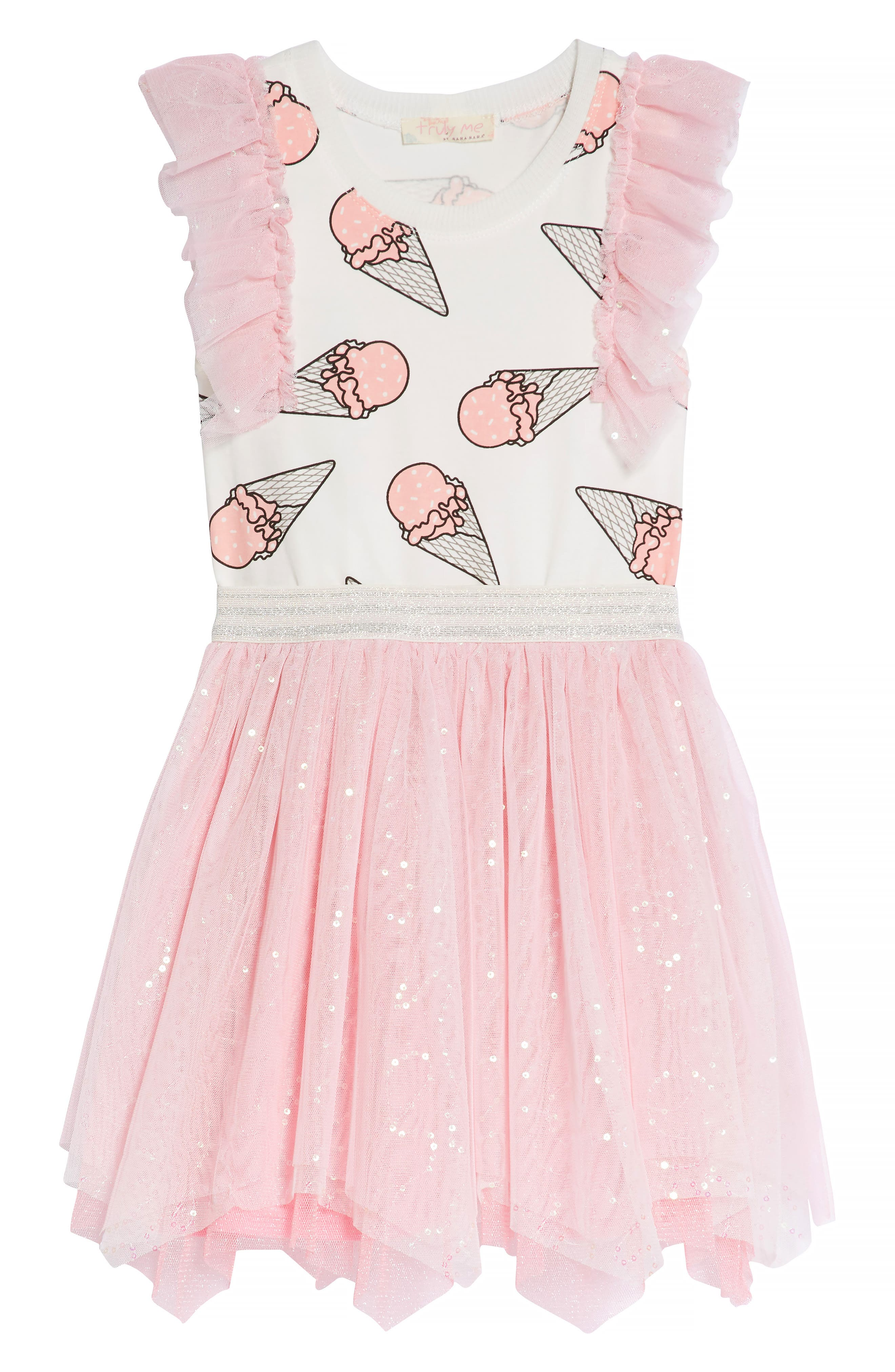 Ice Cream Print Dress,                             Alternate thumbnail 2, color,                             PINK MULTI