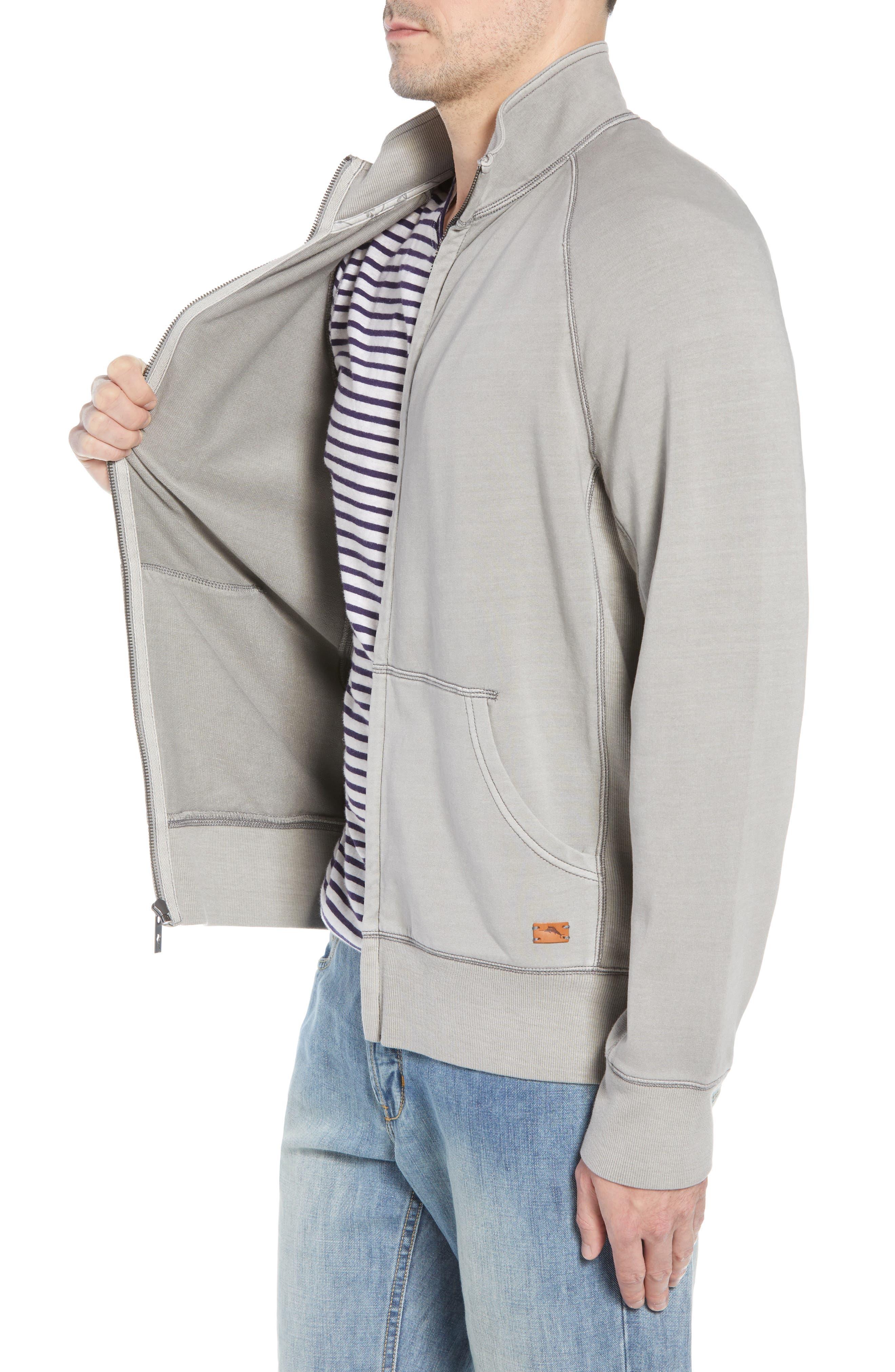 Coast Mock Neck Full Zip Sweatshirt,                             Alternate thumbnail 3, color,                             TYPE WRITER