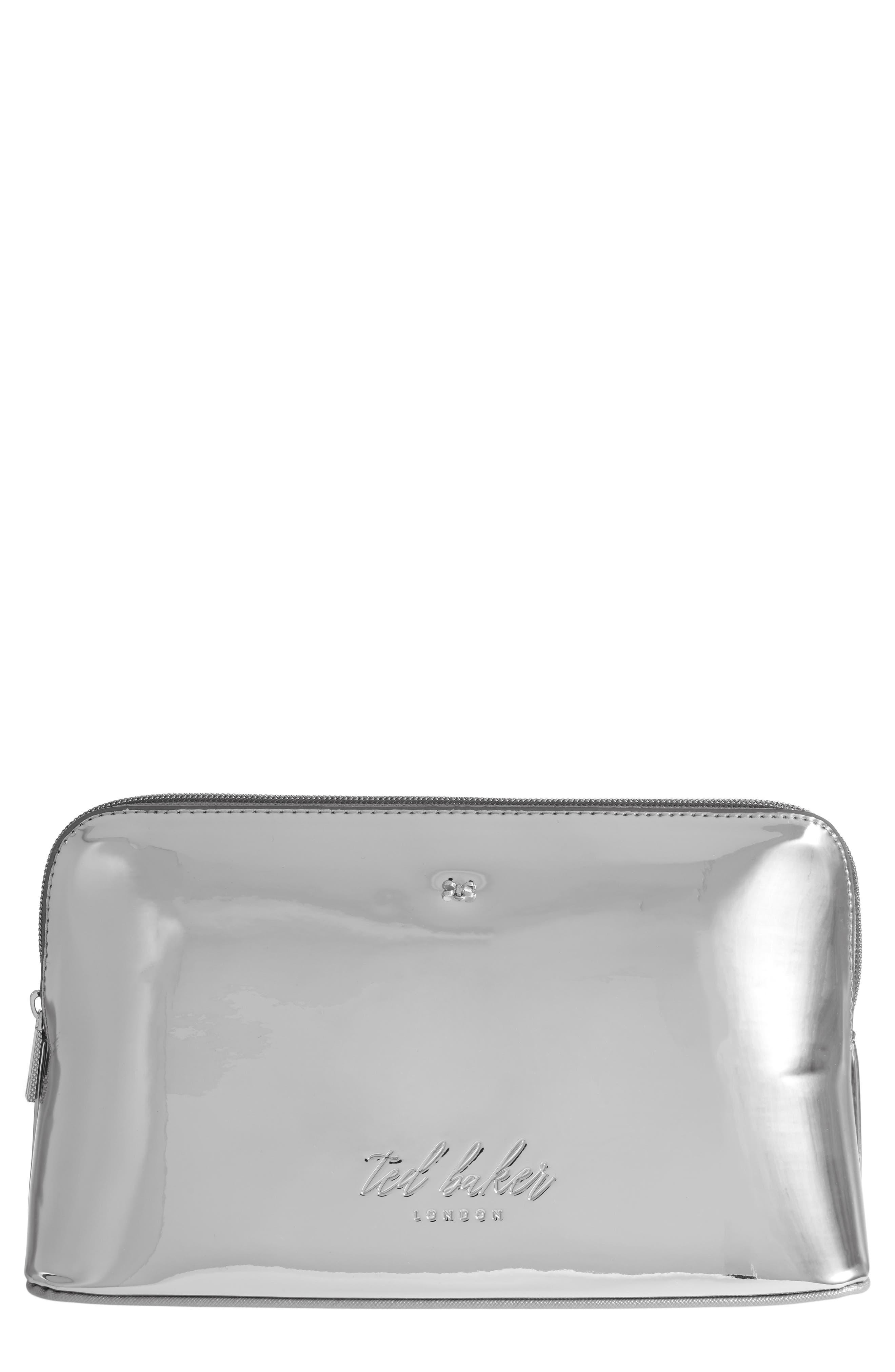 Lauran Mirrored Wash Bag,                             Main thumbnail 1, color,