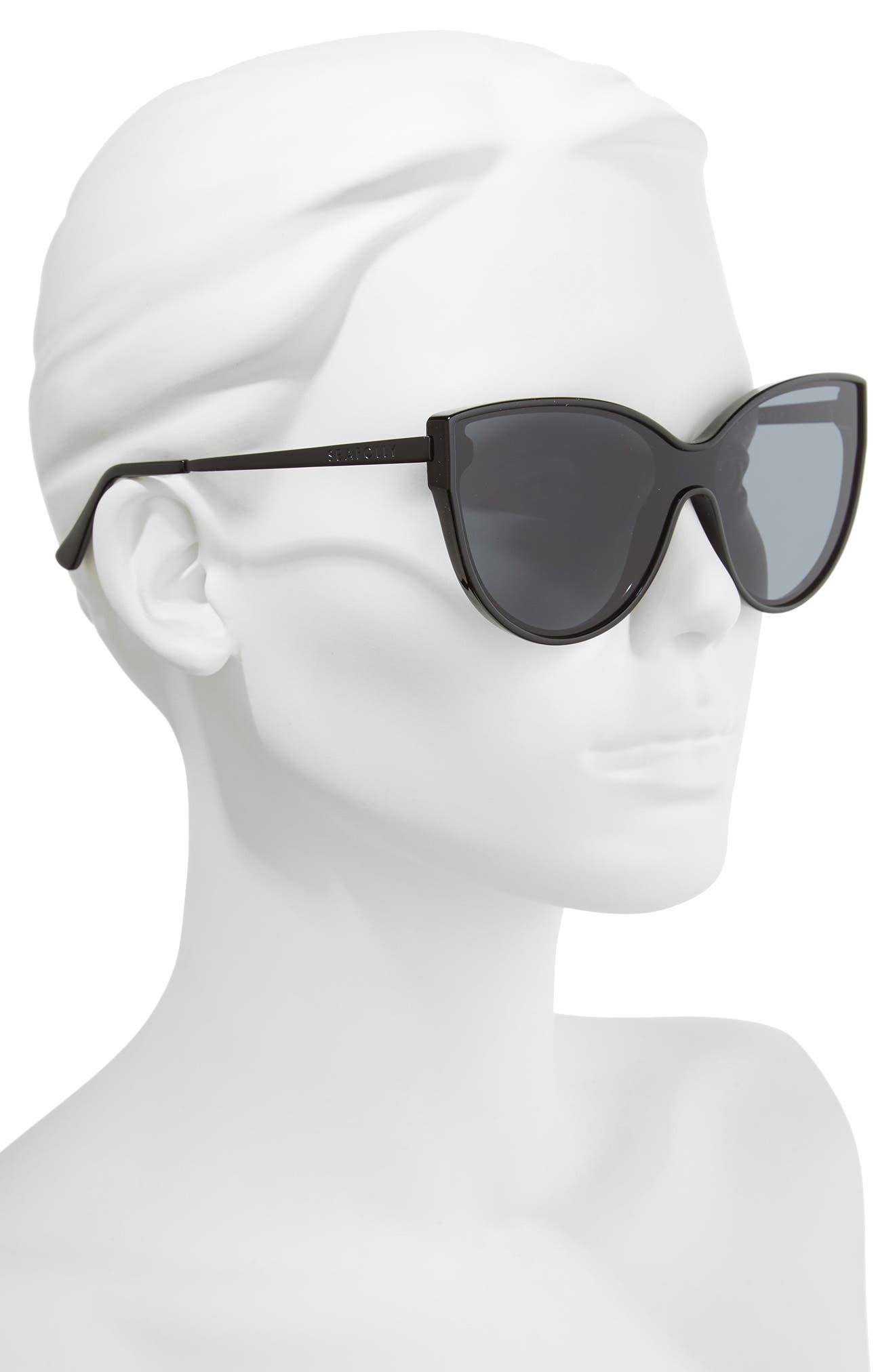 Tortola 60mm Cat Eye Sunglasses,                             Alternate thumbnail 2, color,                             BLACK