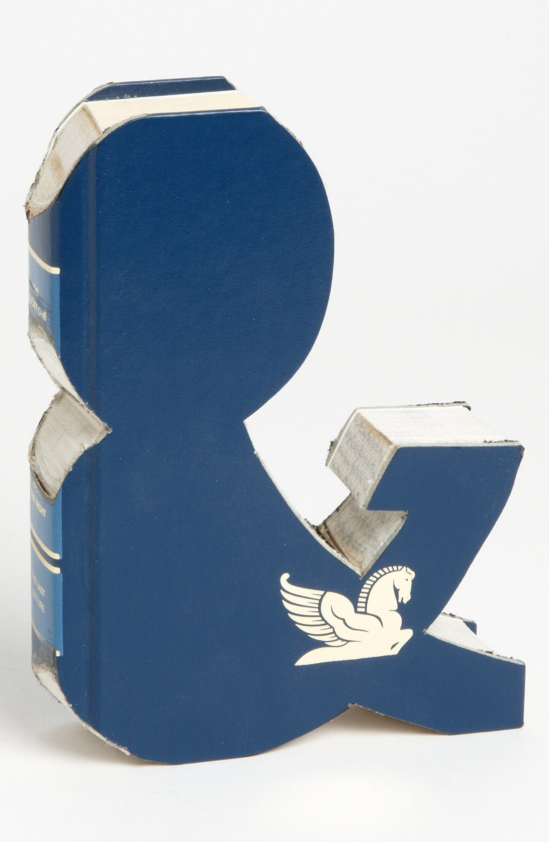 'One of a Kind Letter' Hand-Carved Recycled Book Shelf Art,                             Main thumbnail 24, color,