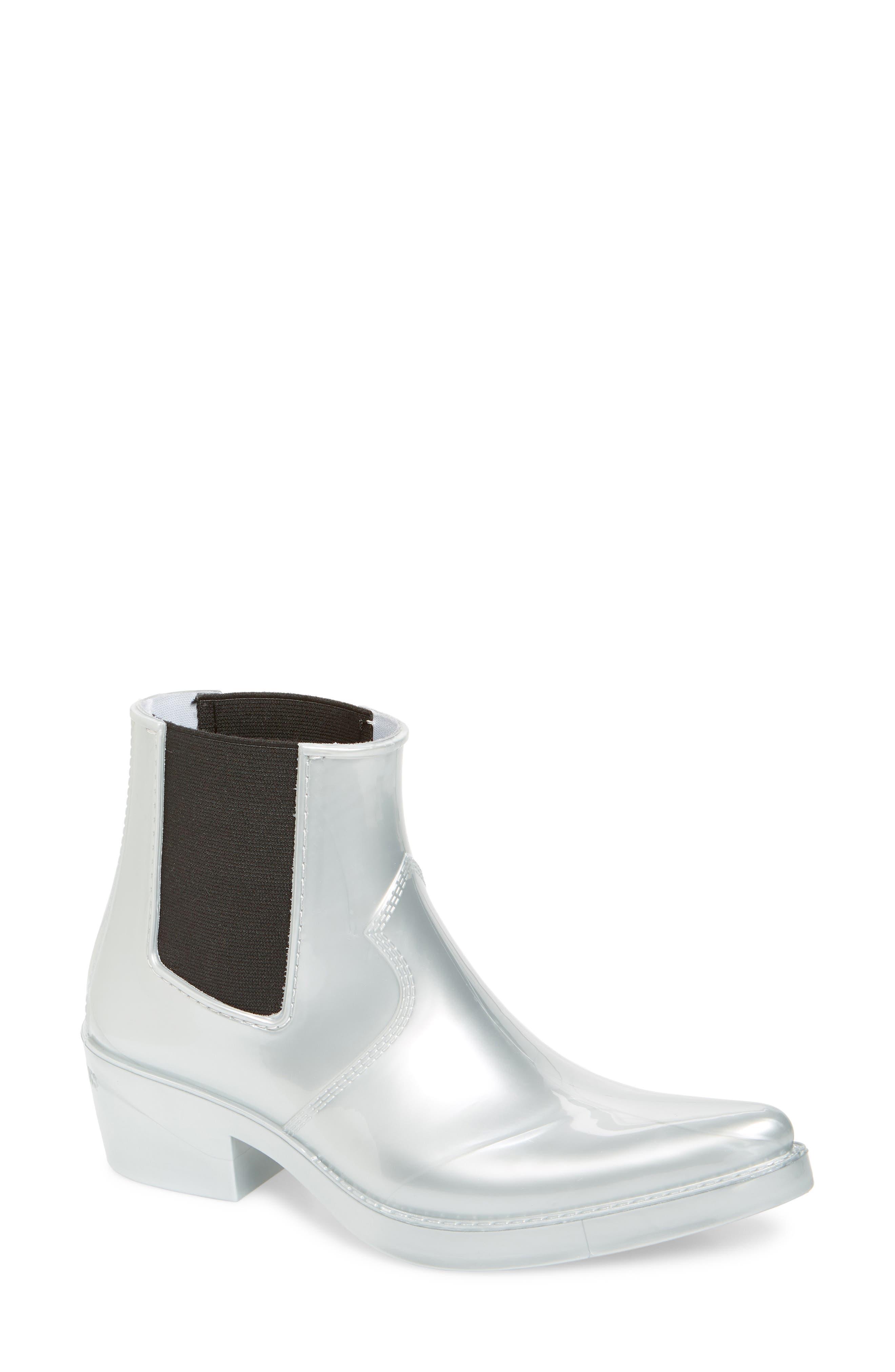 Calvin Klein Jeans Carol Waterproof Rain Bootie, Metallic