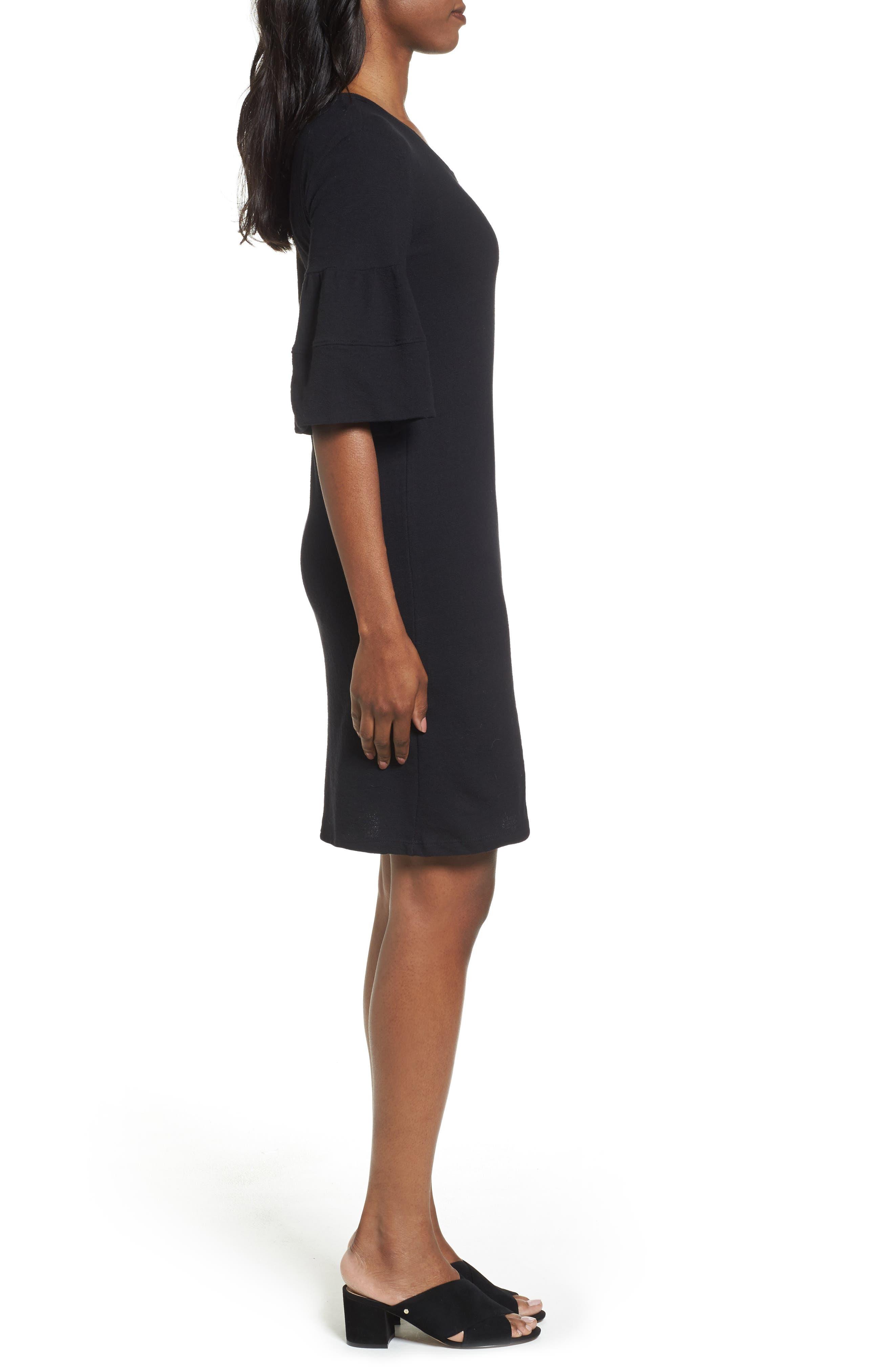 Ruffle Sleeve Knit Dress,                             Alternate thumbnail 7, color,