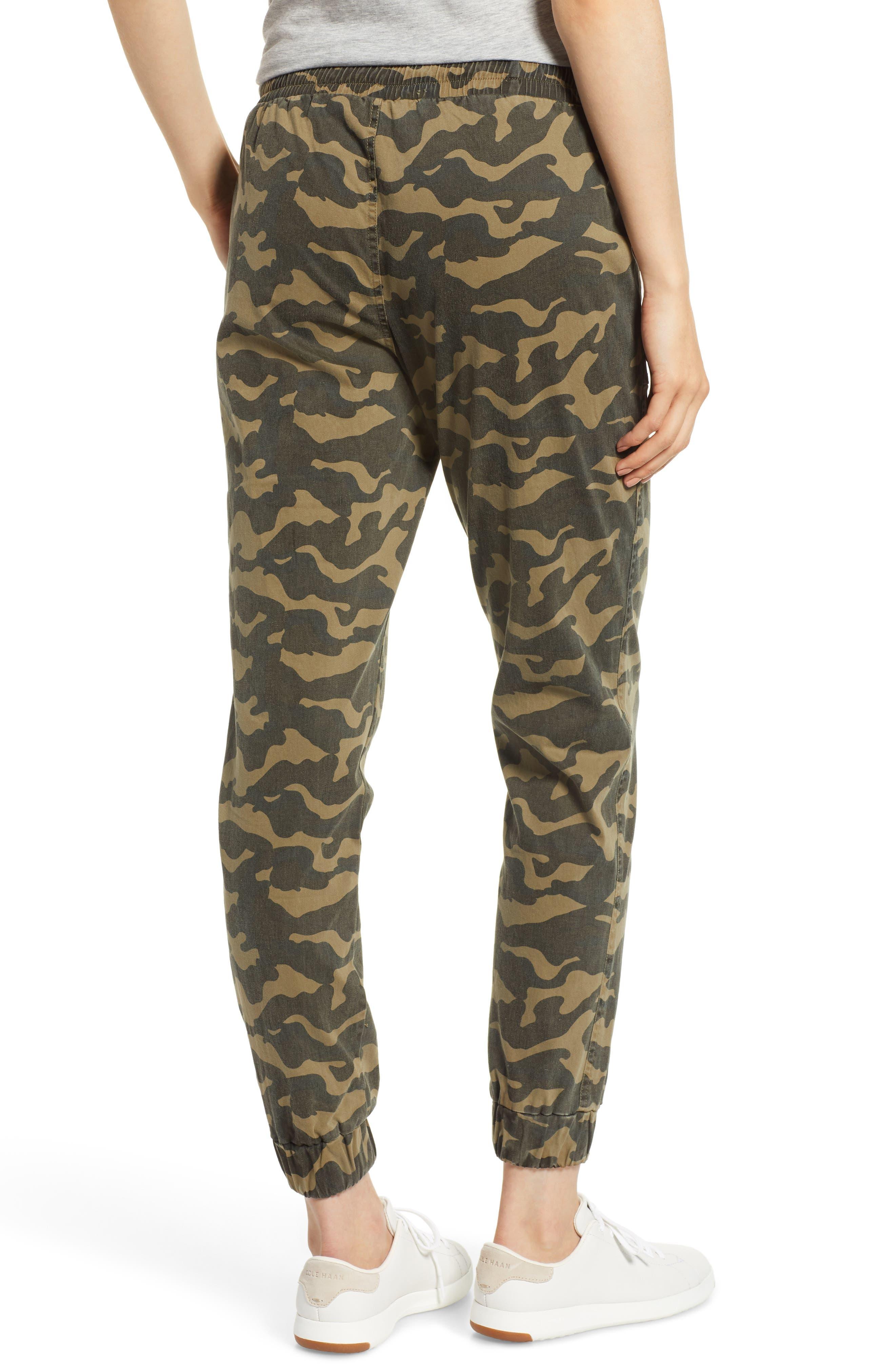 Camo Patch Pocket Jogger Stretch Cotton Pants,                             Alternate thumbnail 2, color,                             345