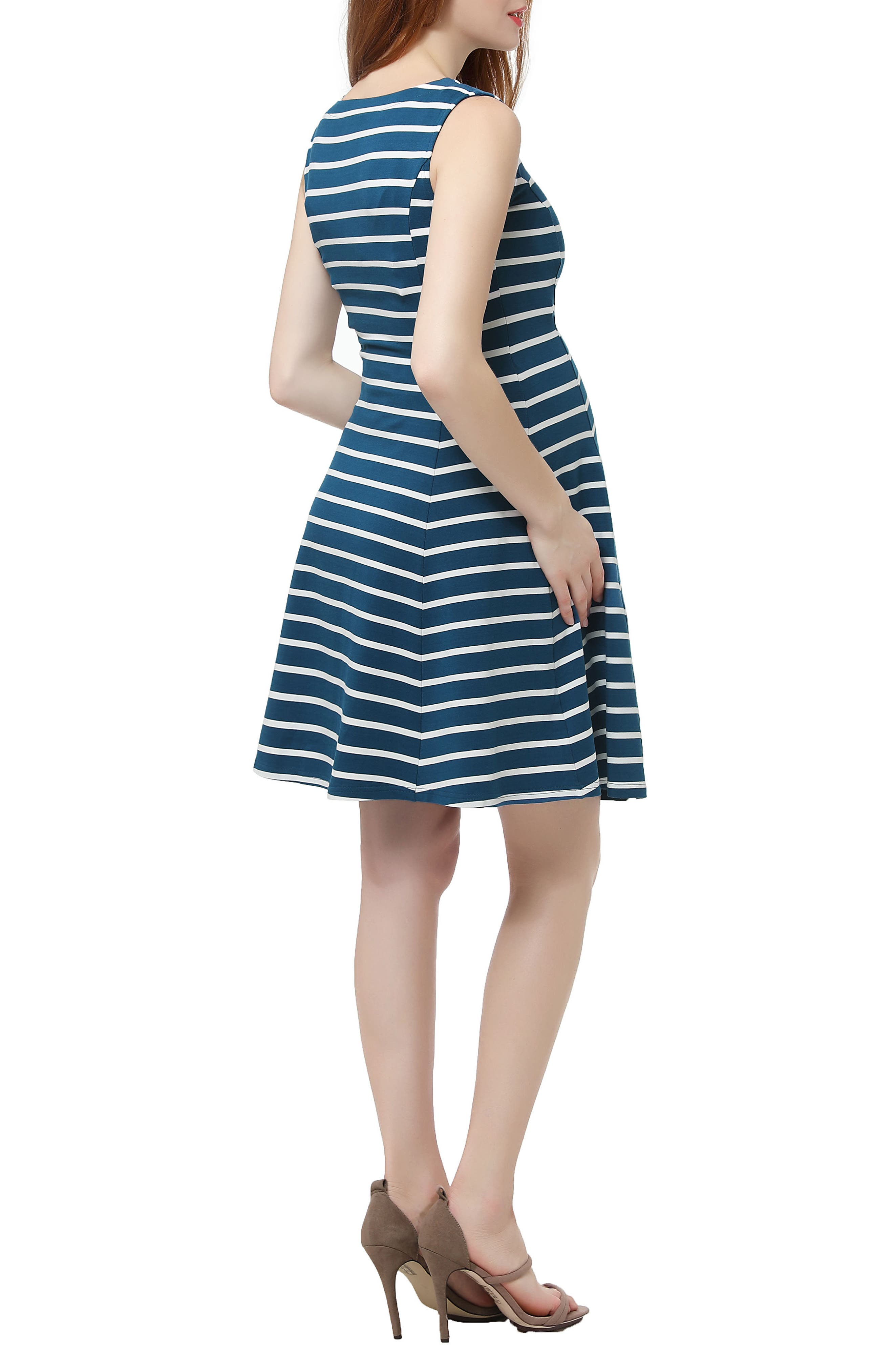 Emilia Stripe Fit & Flare Maternity Dress,                             Alternate thumbnail 2, color,                             300