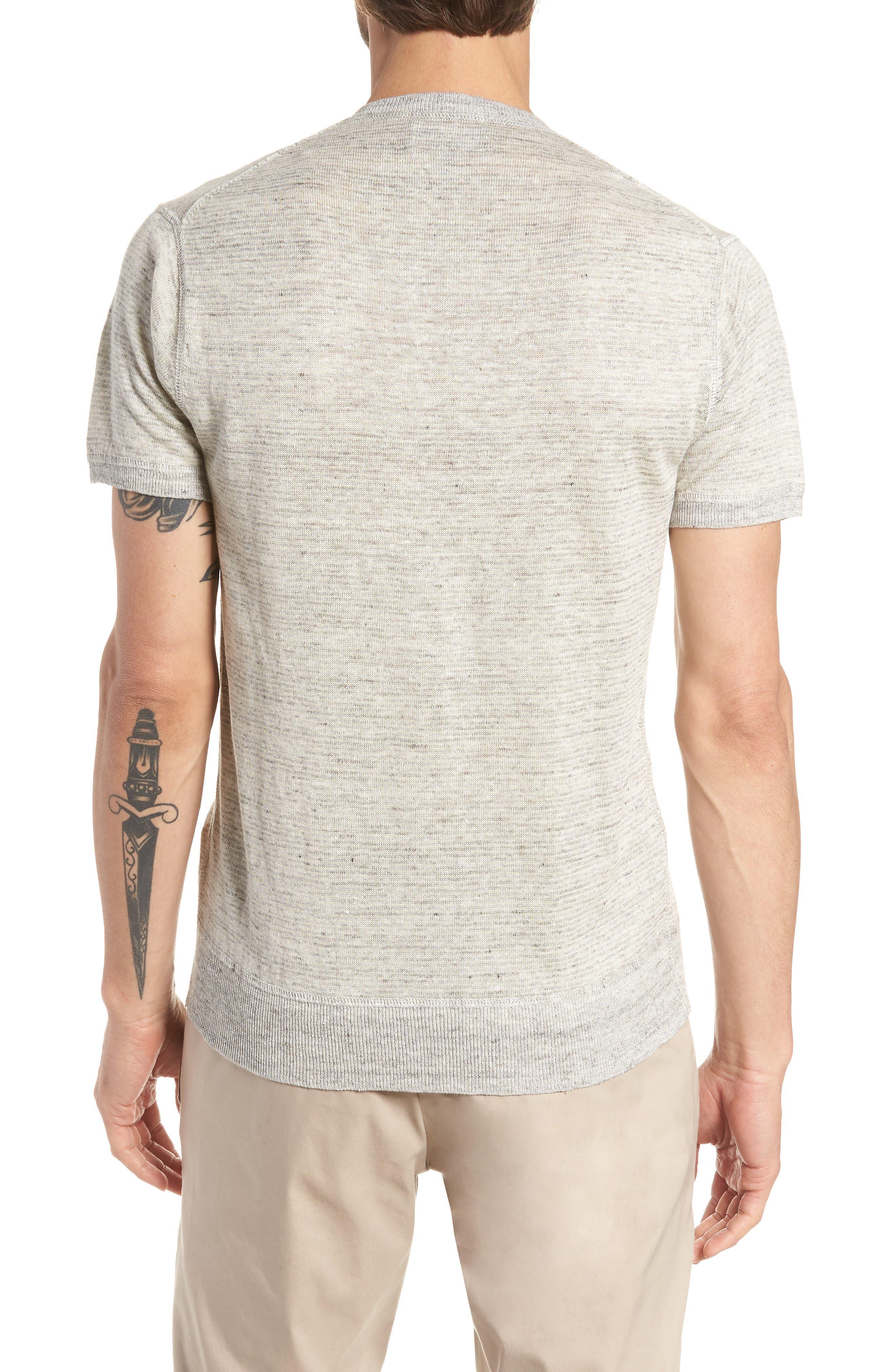 Linen Henley T-Shirt,                             Alternate thumbnail 2, color,                             022