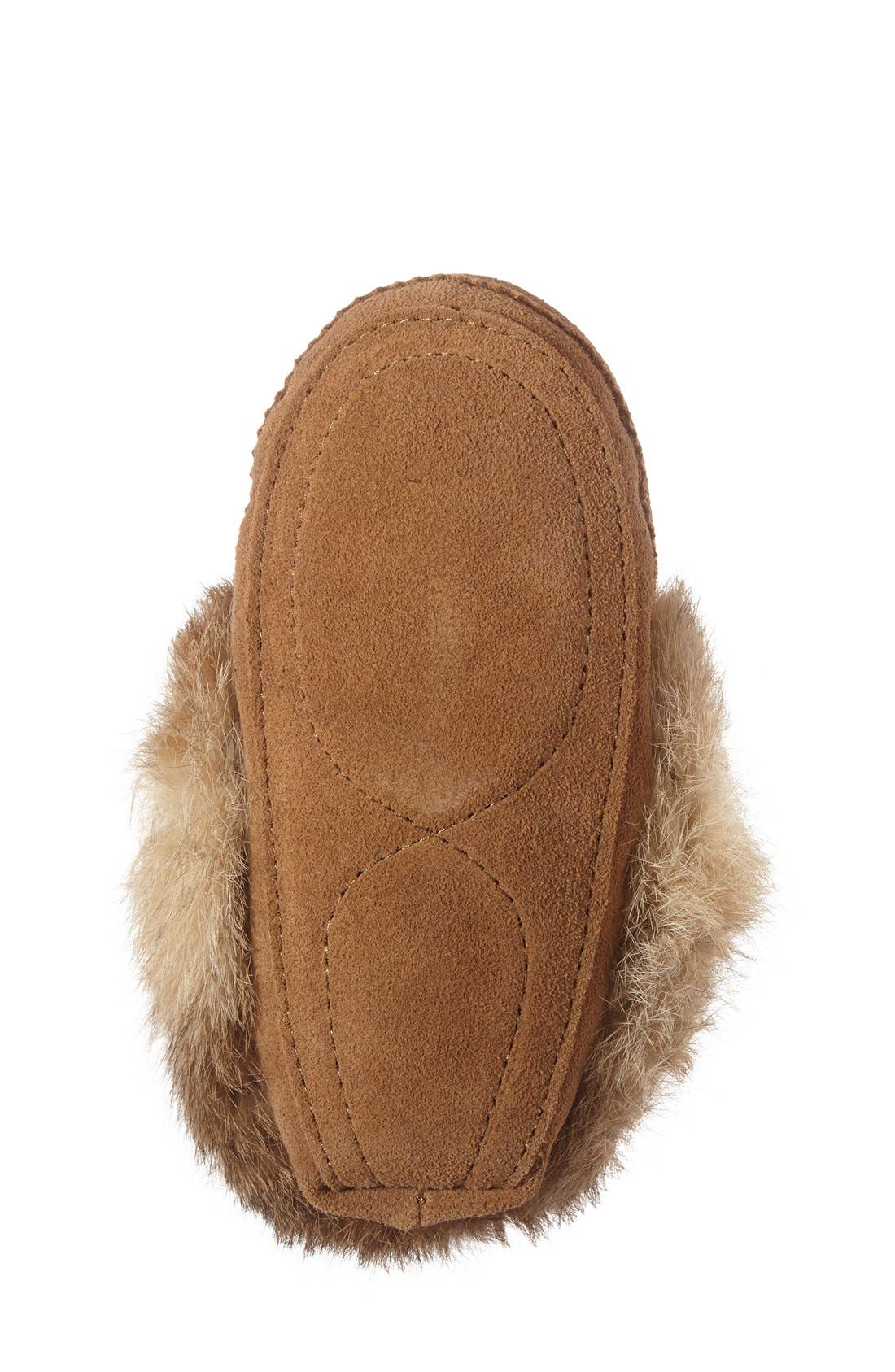 Genuine Rabbit Fur Moccasin,                             Alternate thumbnail 20, color,