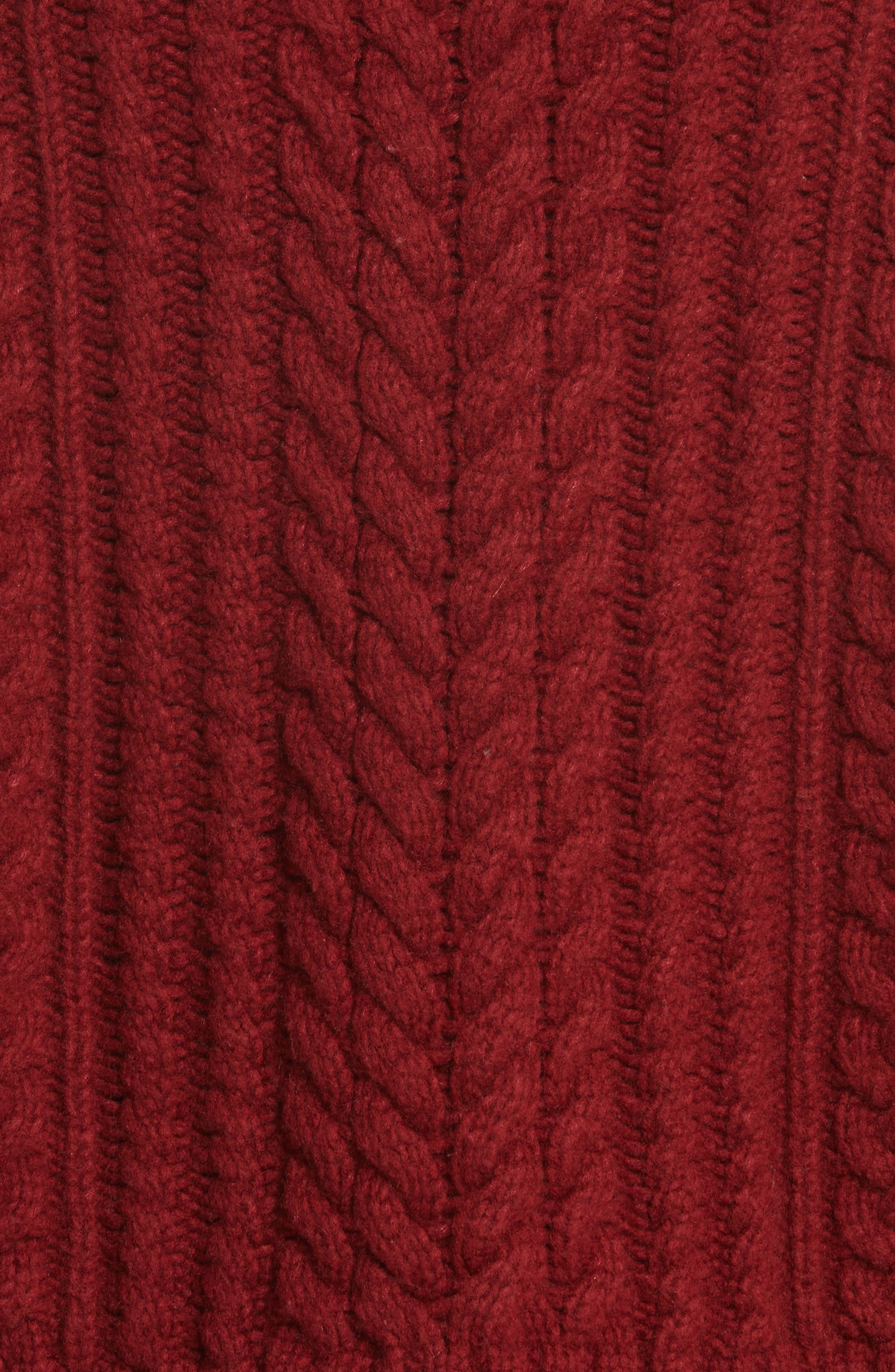 Tobin Cable Knit Crop Turtleneck Sweater,                             Alternate thumbnail 5, color,                             939