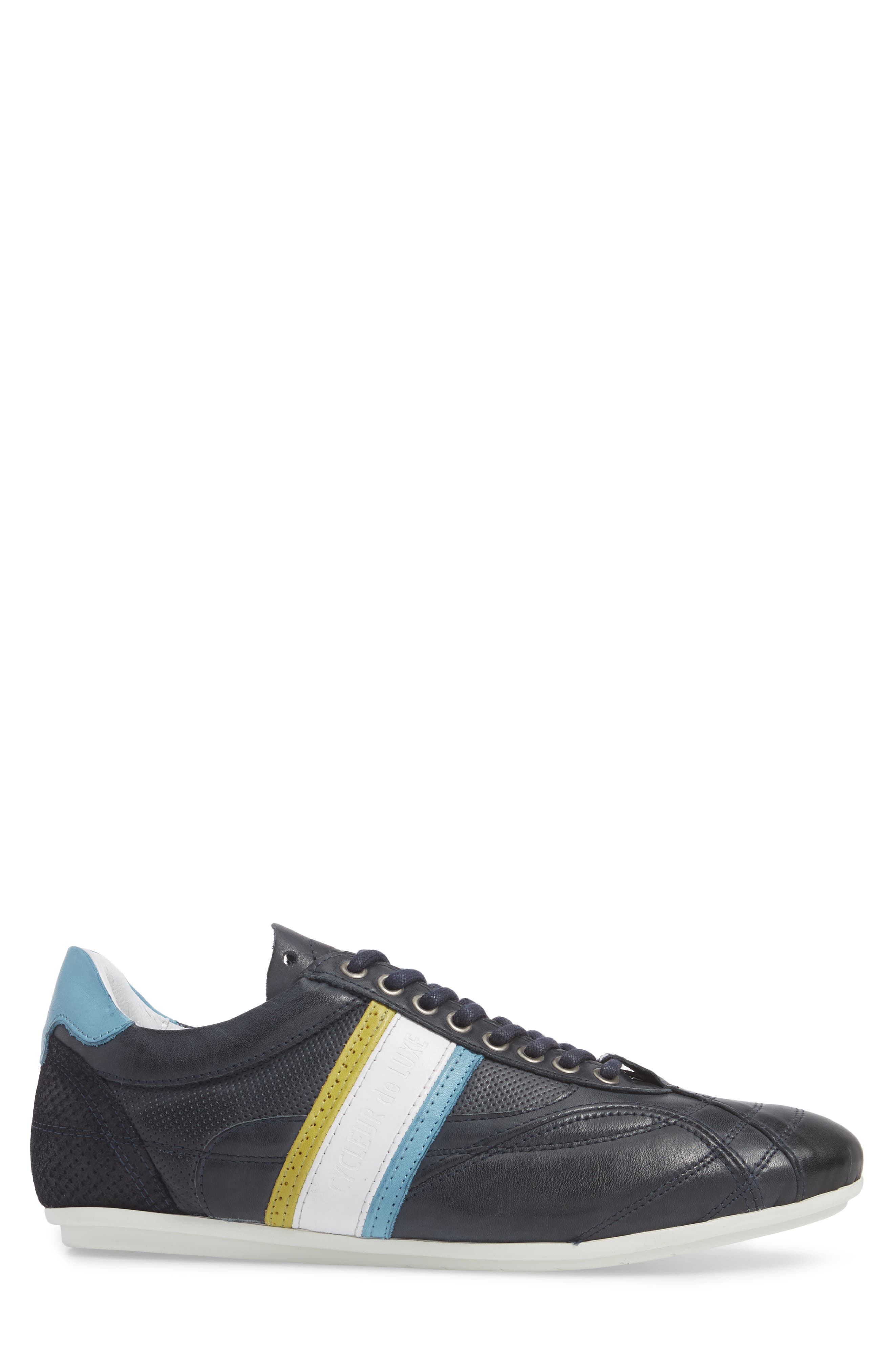 Crush City Low Top Sneaker,                             Alternate thumbnail 3, color,                             NAVY LEATHER