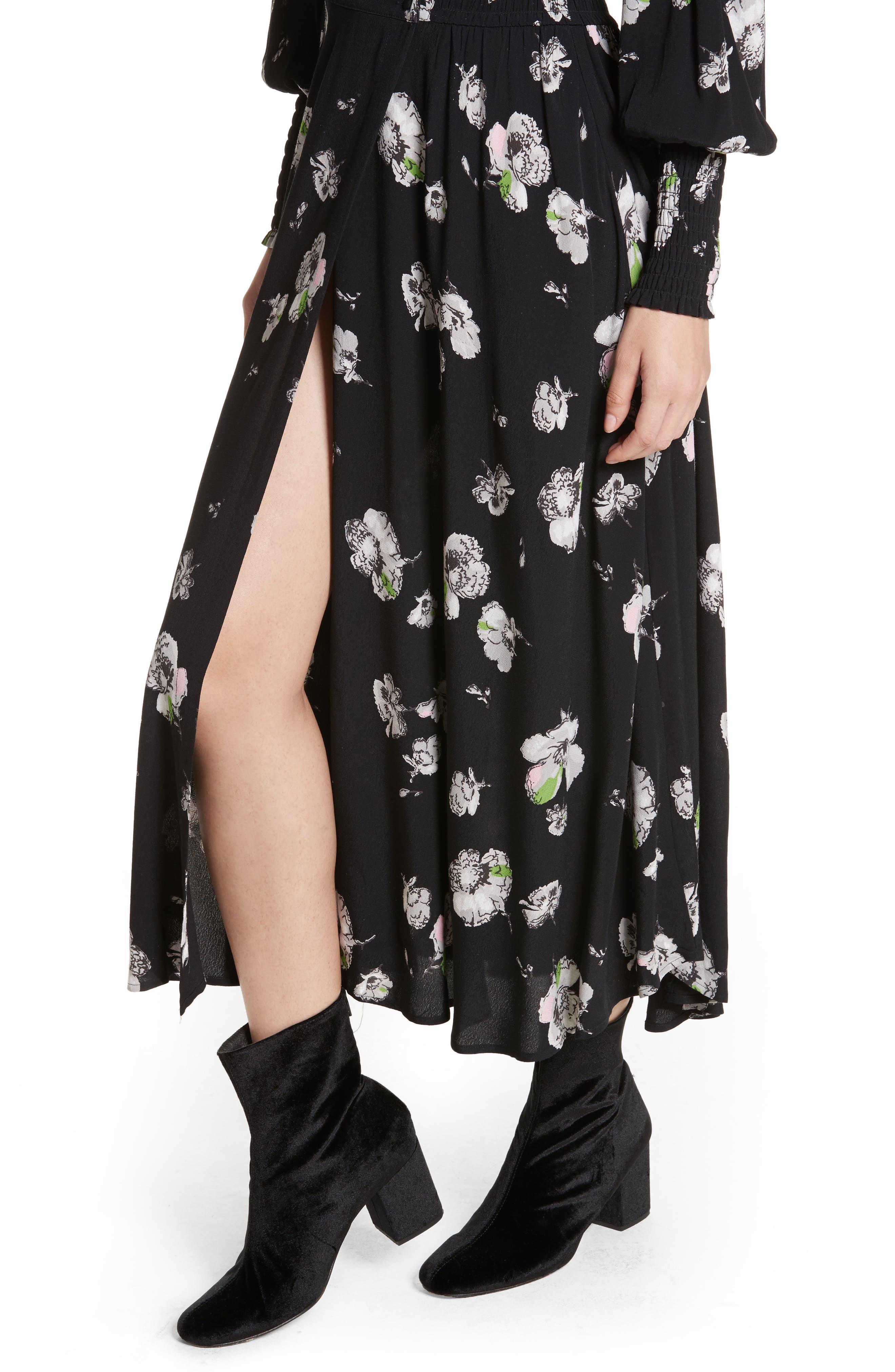So Sweetly Midi Dress,                             Alternate thumbnail 4, color,                             001