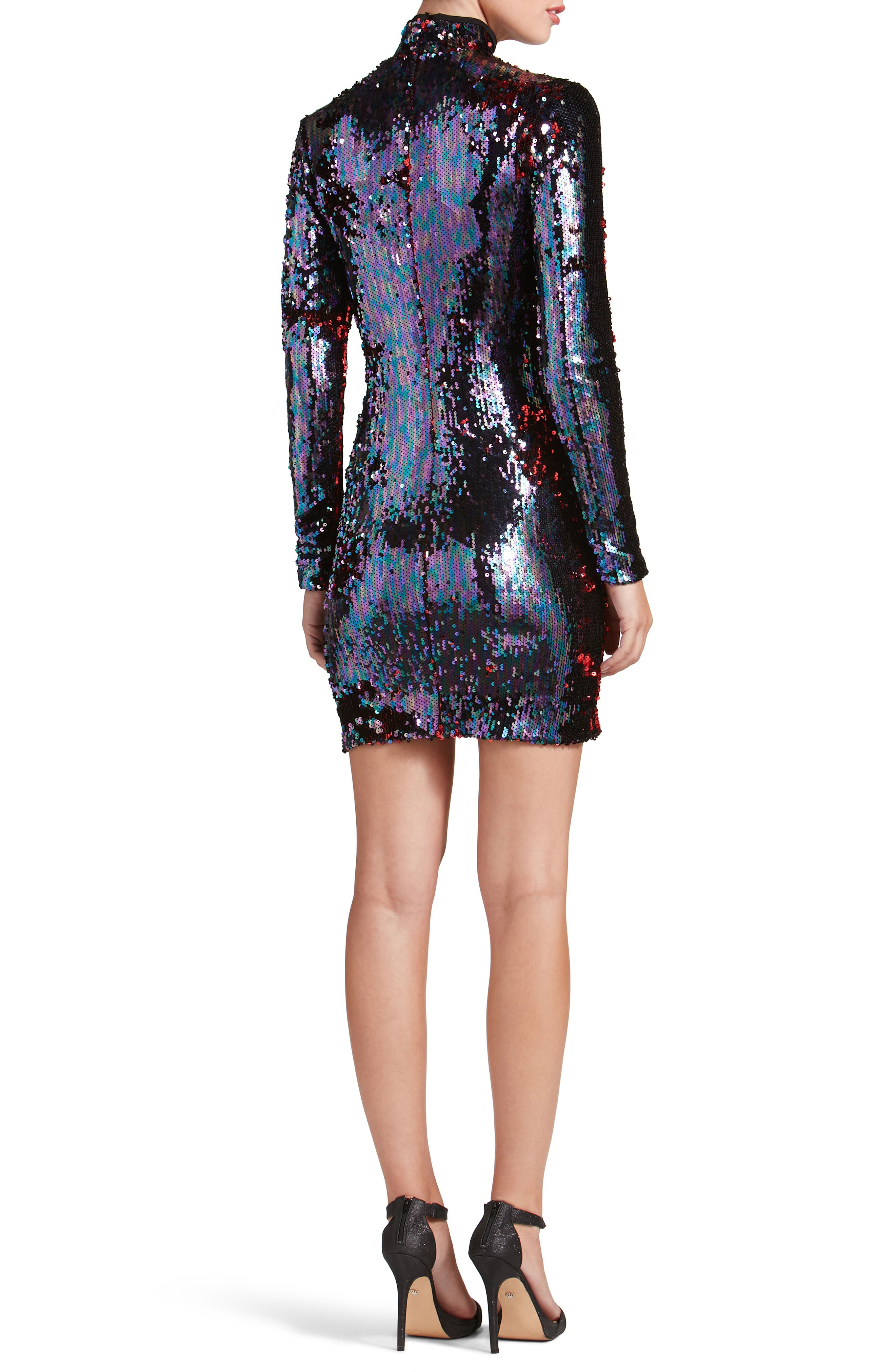 Katy Reversible Sequin Body-Con Dress,                             Alternate thumbnail 2, color,                             457