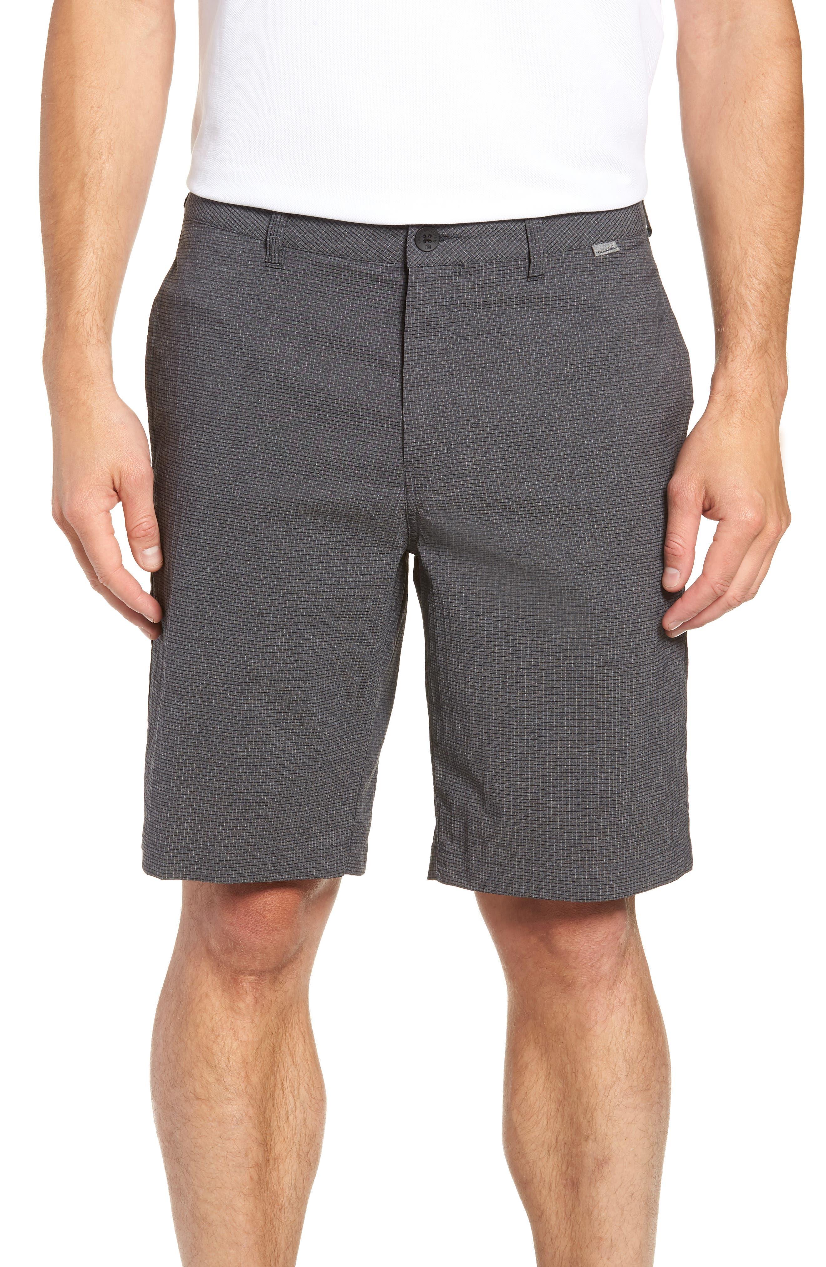 Peel Out Shorts,                         Main,                         color, GREY PINSTRIPE