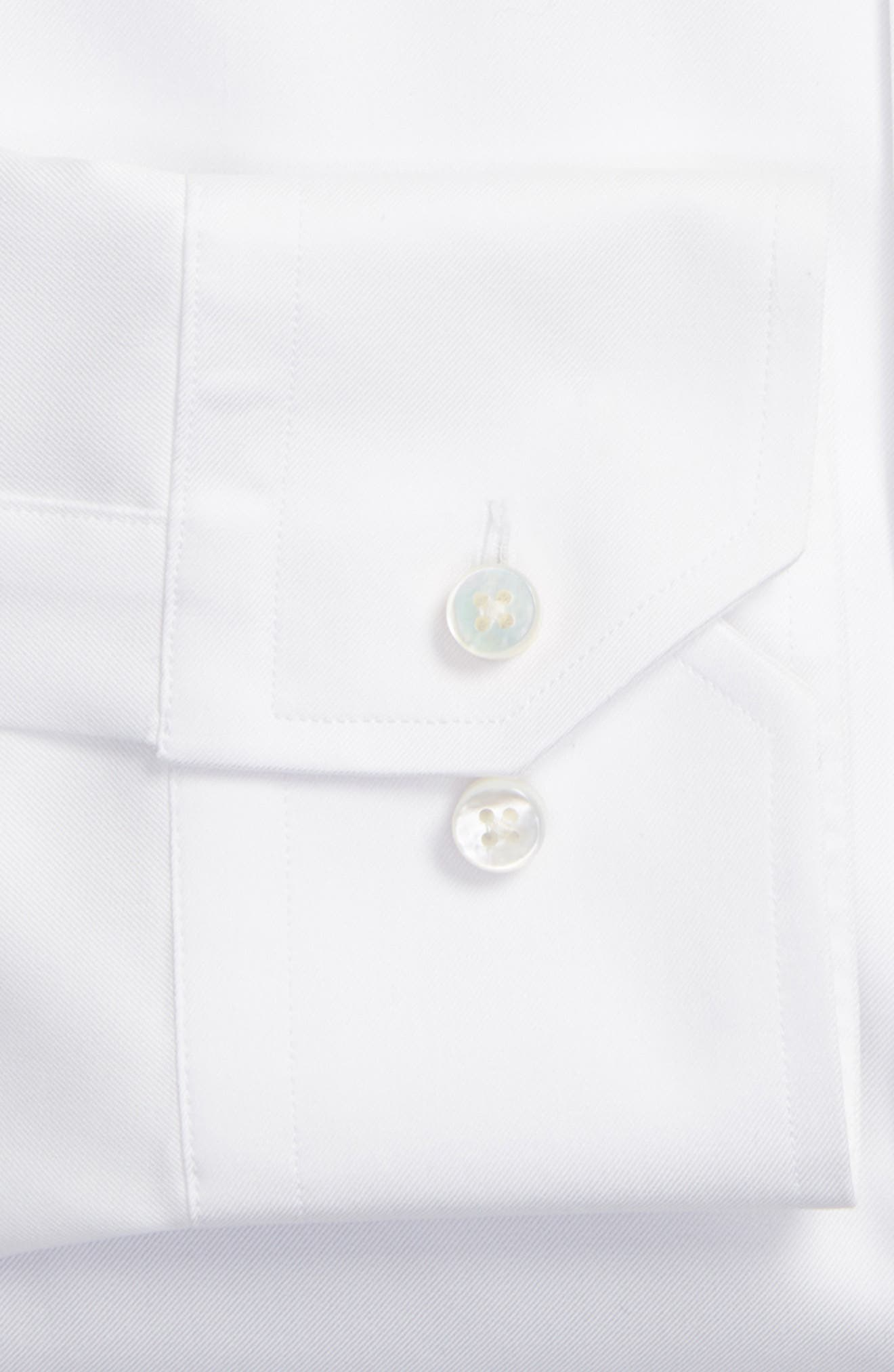 Tailored Fit Solid Dress Shirt,                             Alternate thumbnail 2, color,                             100