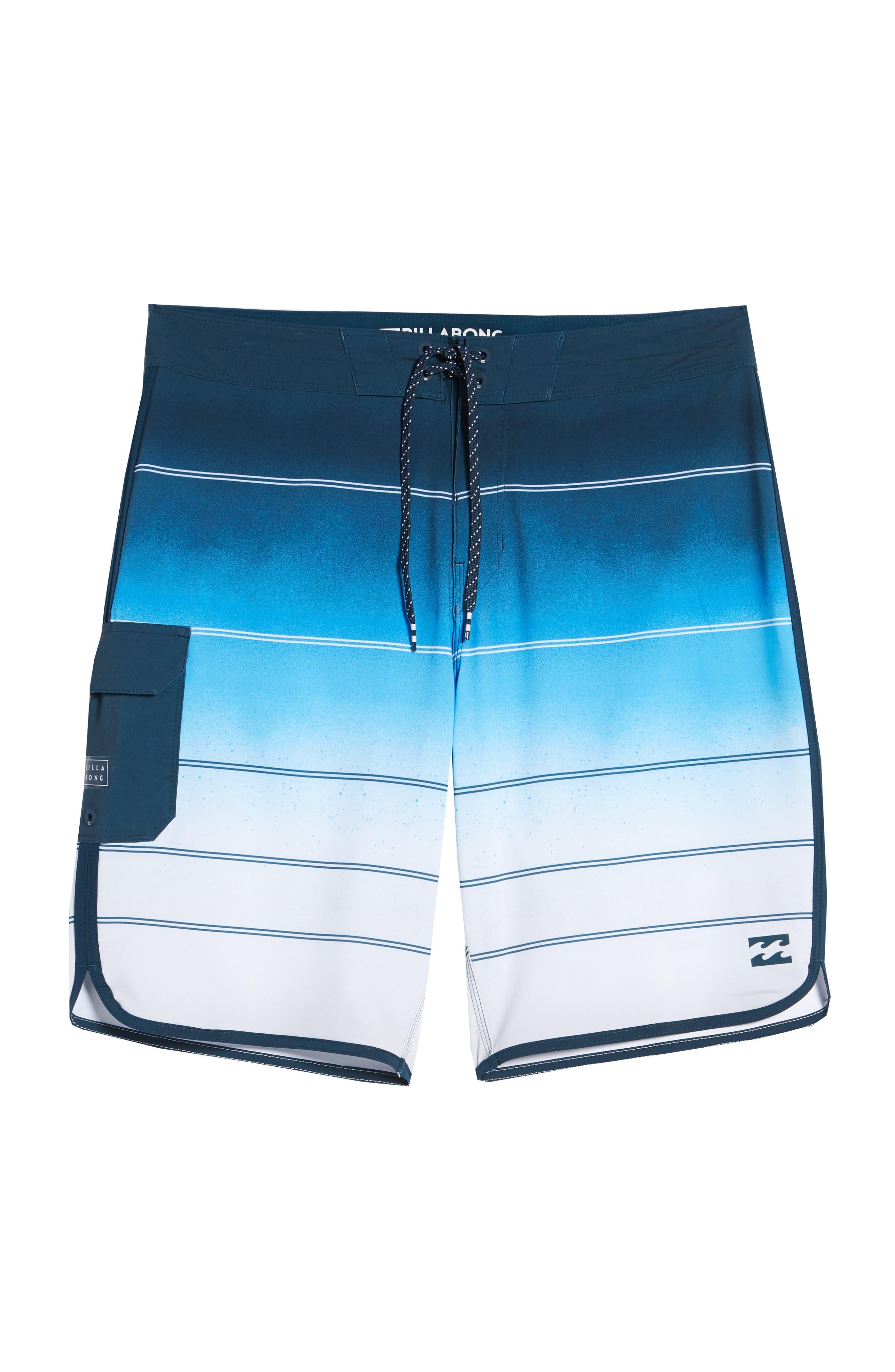 73 X Stripe Board Shorts,                             Alternate thumbnail 6, color,                             428
