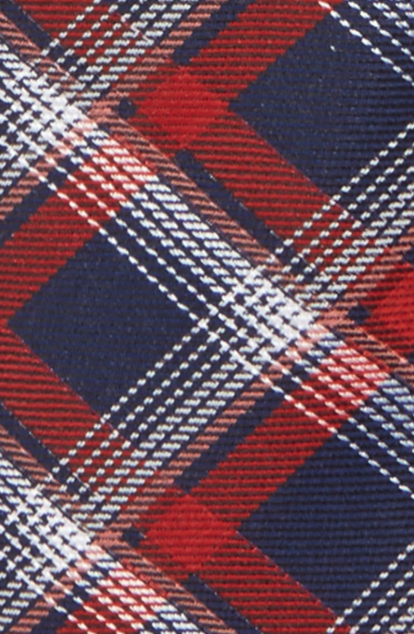 Plaid Silk Zip Tie,                             Alternate thumbnail 12, color,
