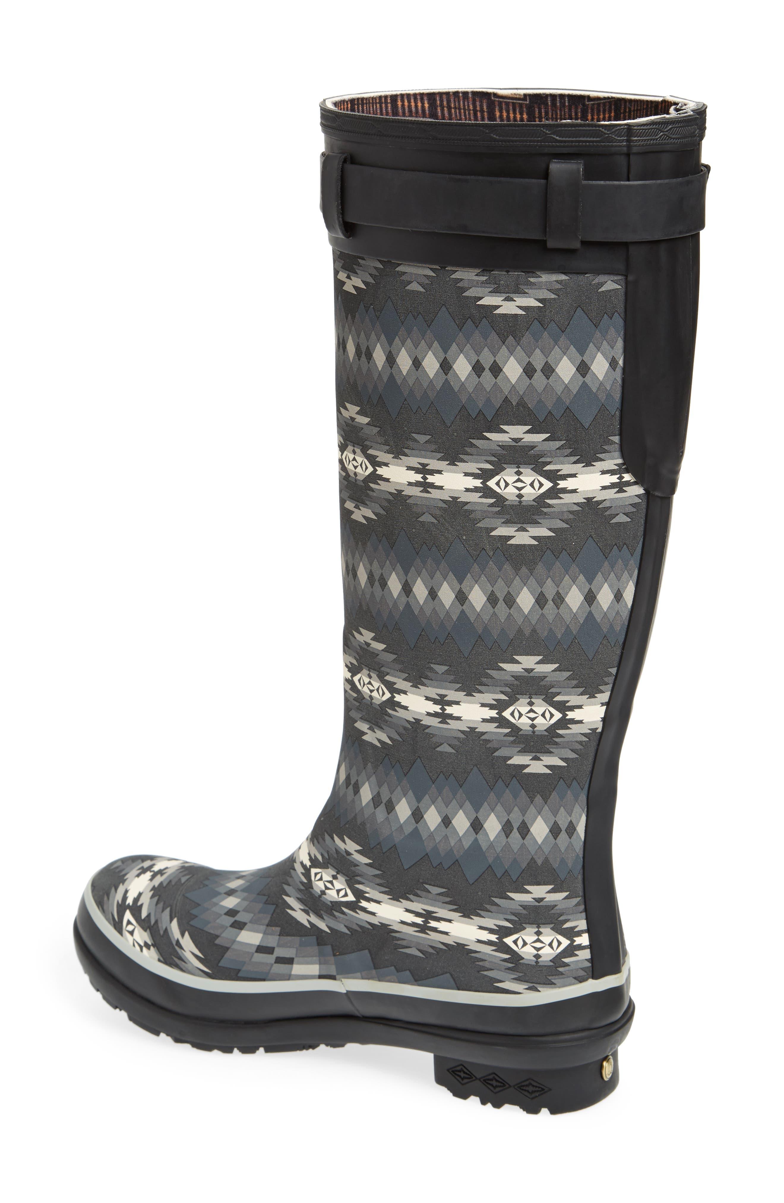 Pendleton Papago Park Tall Rain Boot,                             Alternate thumbnail 2, color,                             BLACK