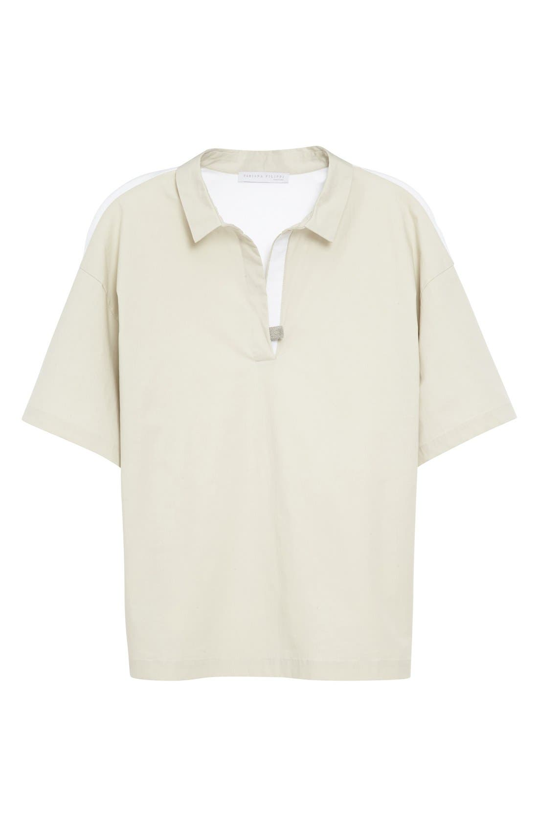 Woven & Jersey Shirt,                             Alternate thumbnail 4, color,                             250