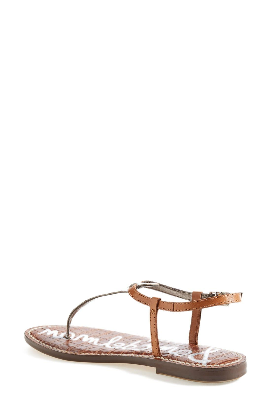 'Gigi' Leather Sandal,                             Alternate thumbnail 3, color,                             045