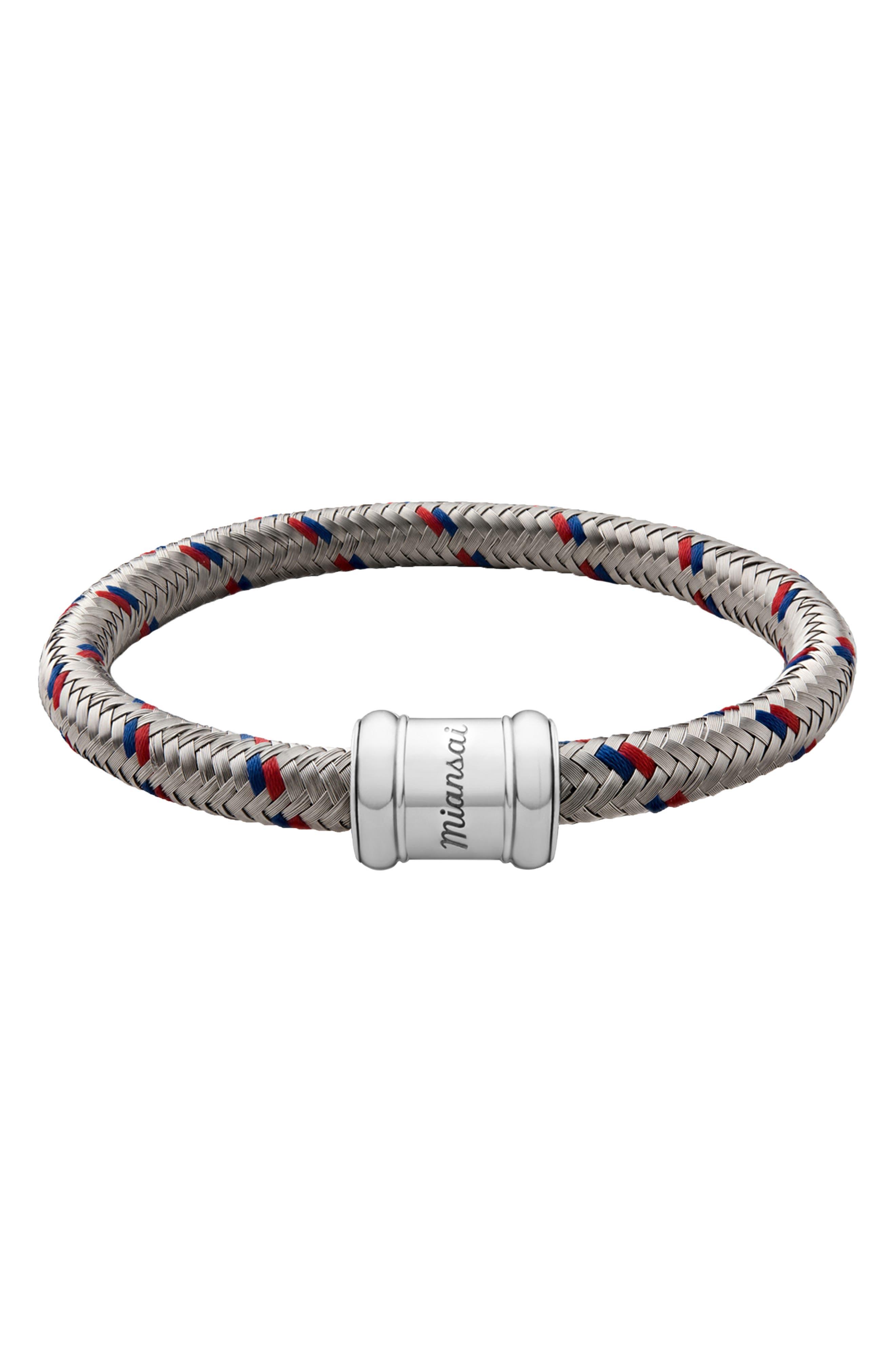 Rope Bracelet,                             Main thumbnail 1, color,                             RED/ BLUE