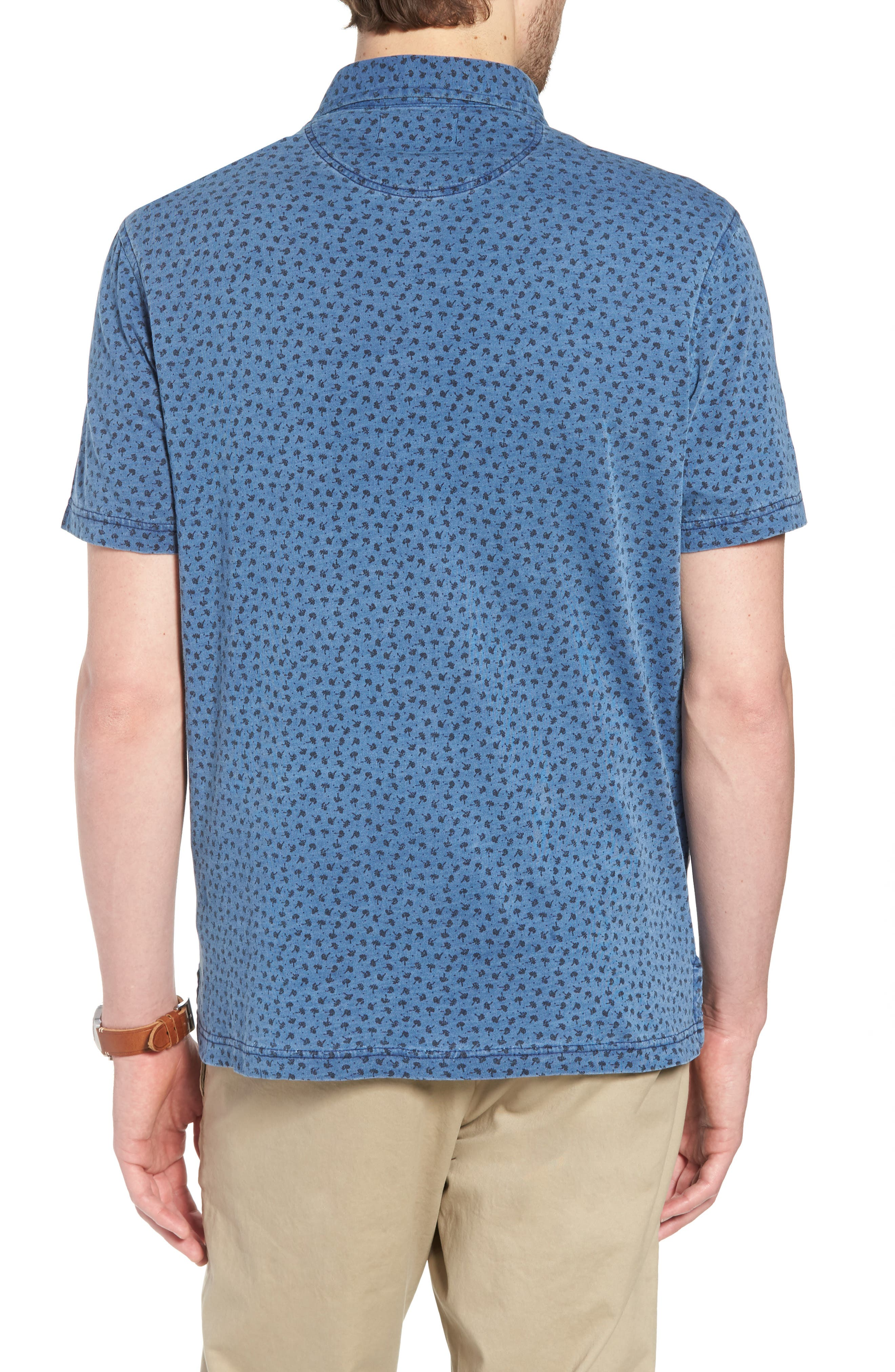 Washed Print Cotton Polo,                             Alternate thumbnail 2, color,                             420
