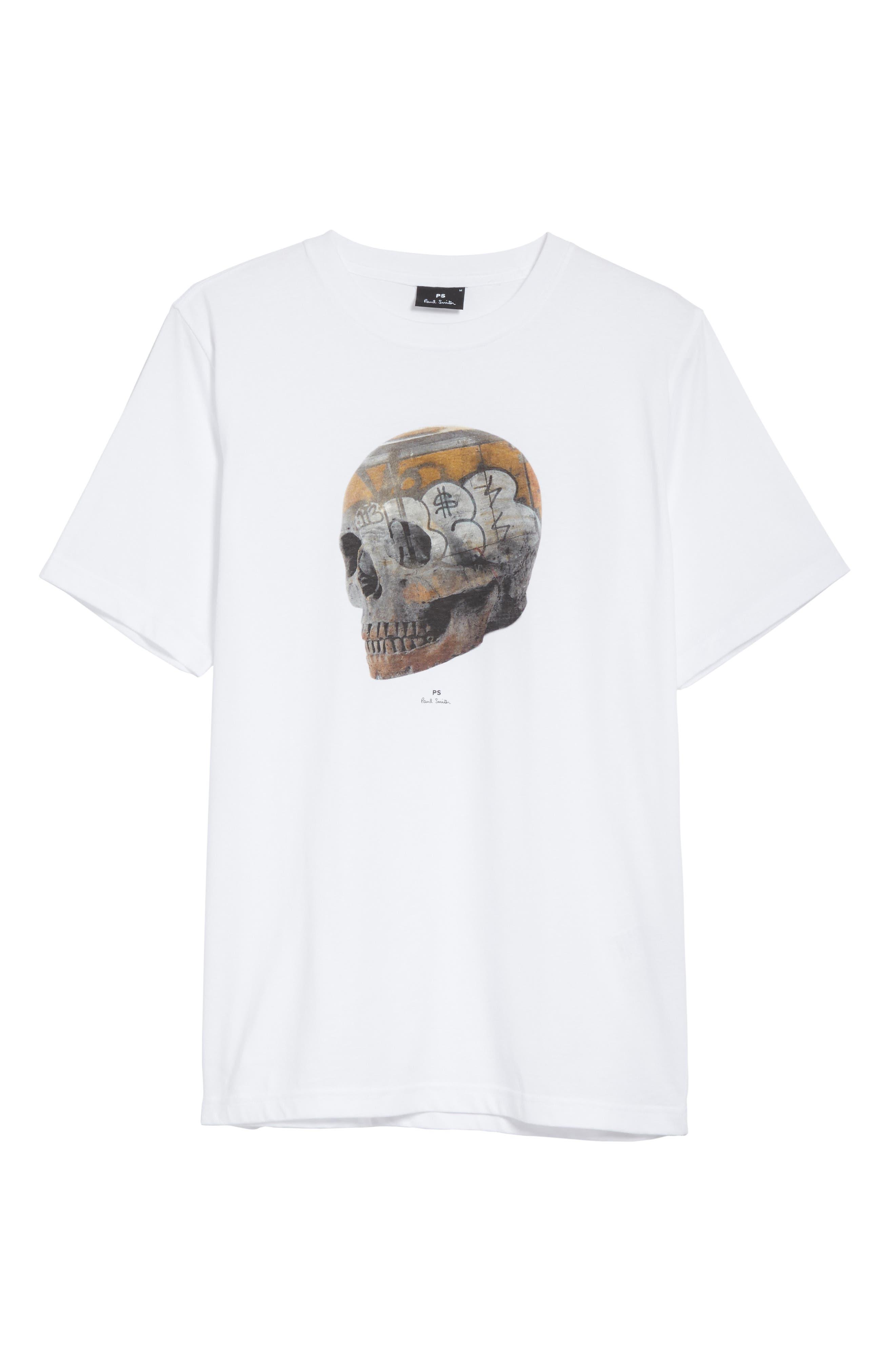 Skull Graphic T-Shirt,                             Alternate thumbnail 6, color,