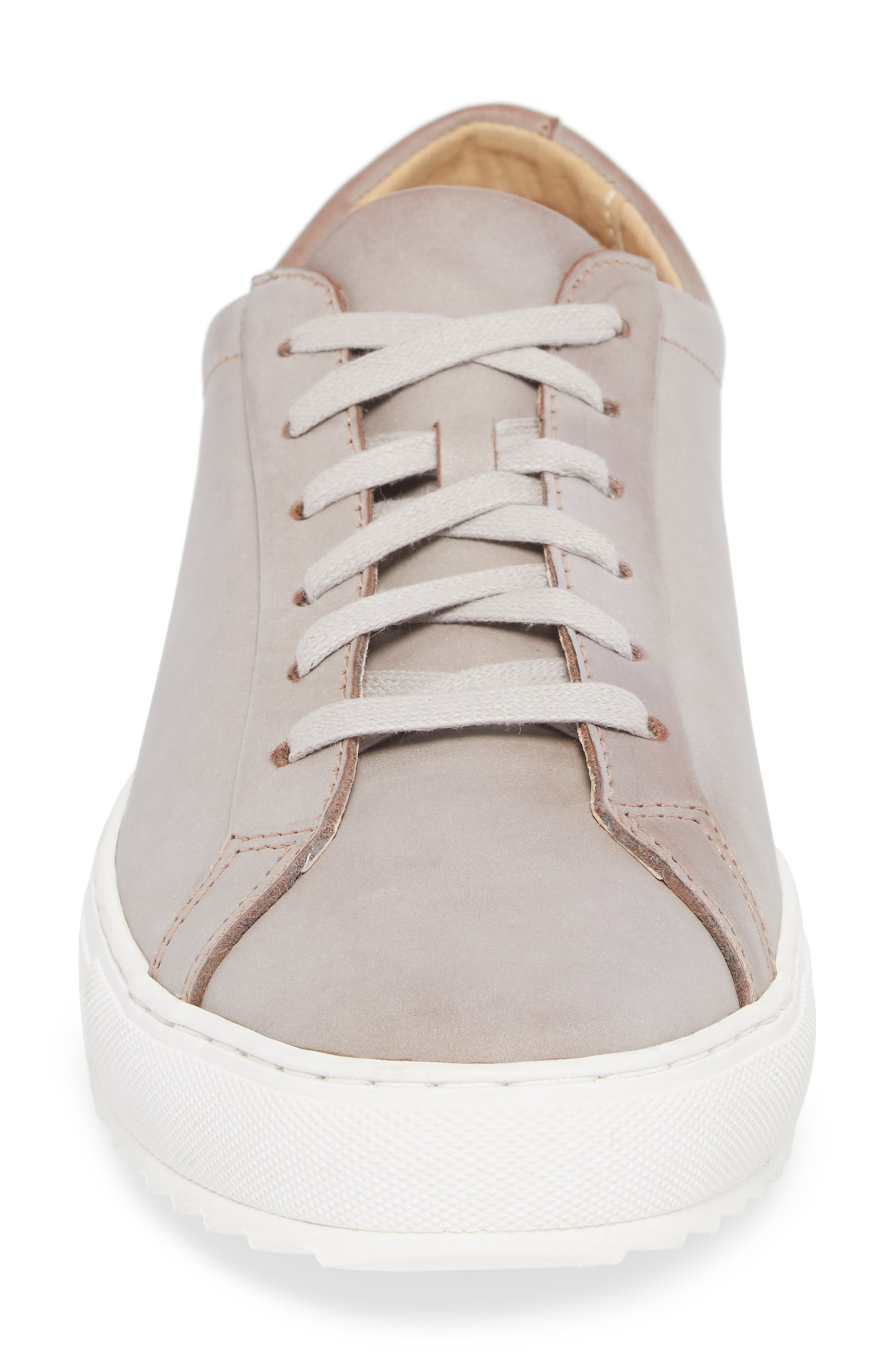 Kennedy Lugged Sneaker,                             Alternate thumbnail 4, color,                             SAND STONE LEATHER