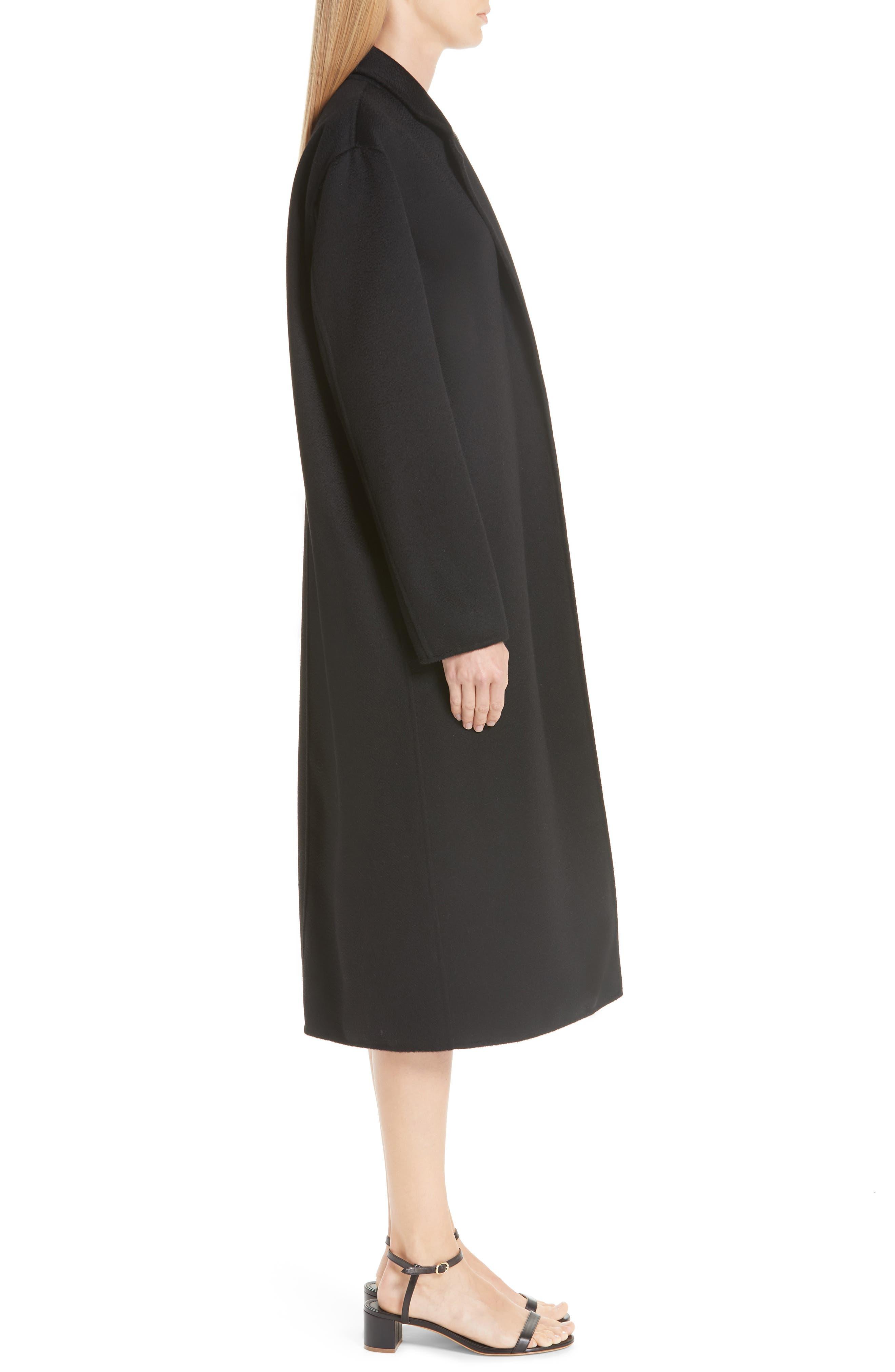 MANSUR GAVRIEL,                             Longline Cashmere Coat,                             Alternate thumbnail 3, color,                             001