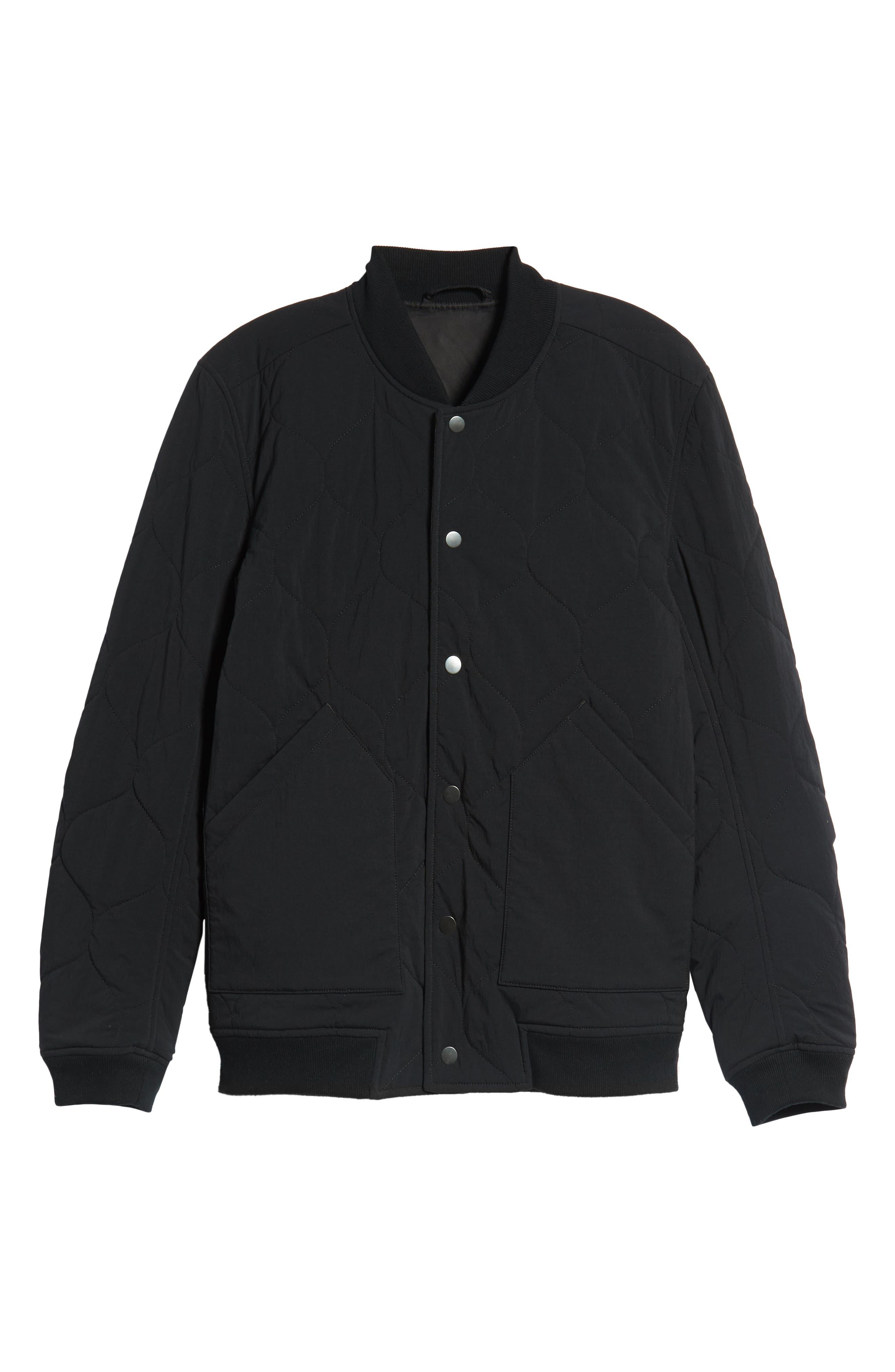 Reversible Bomber Jacket,                             Alternate thumbnail 6, color,                             BLACK