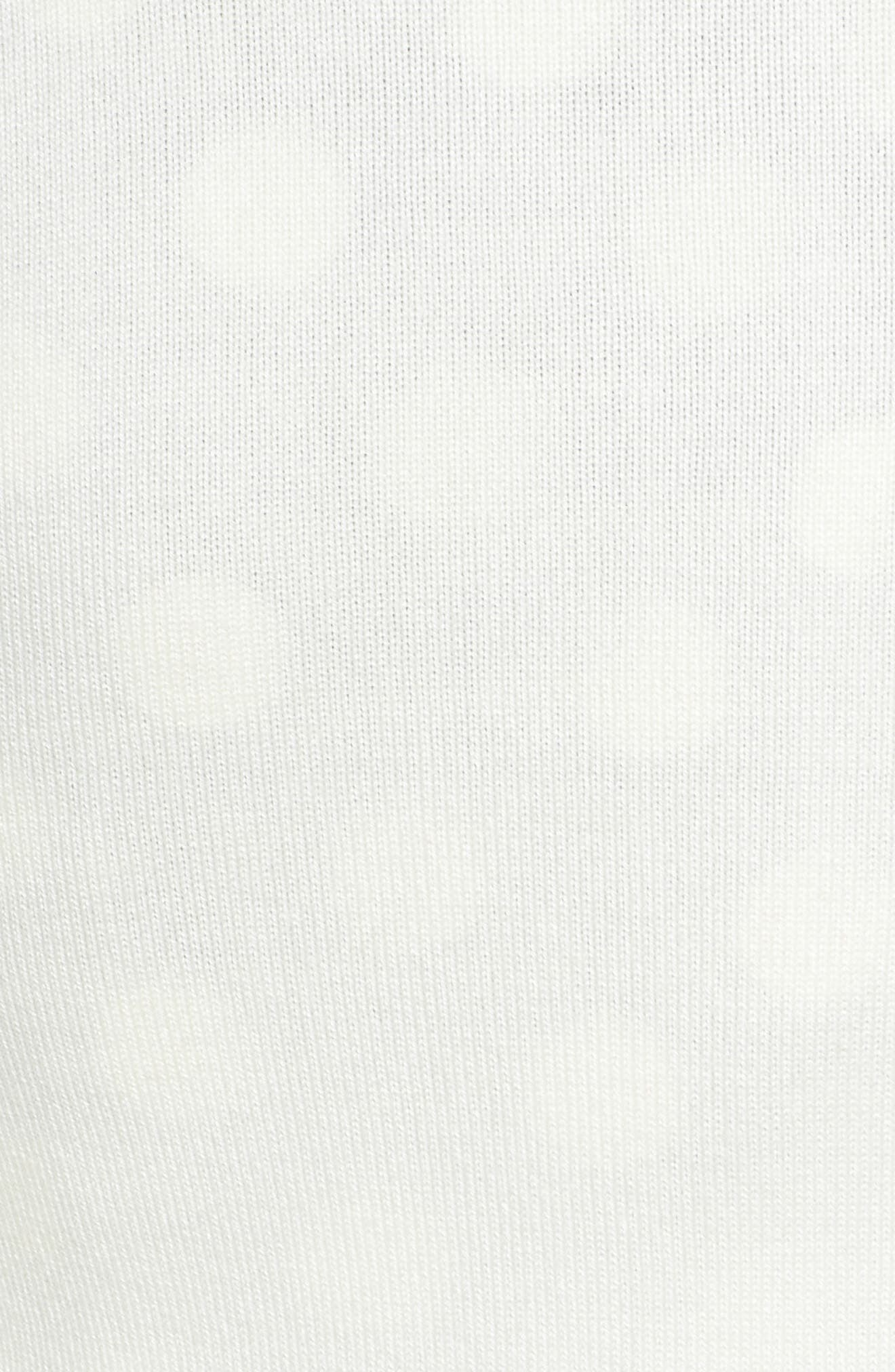Crochet Sleeve Bolero Cardigan,                             Alternate thumbnail 5, color,                             IVORY