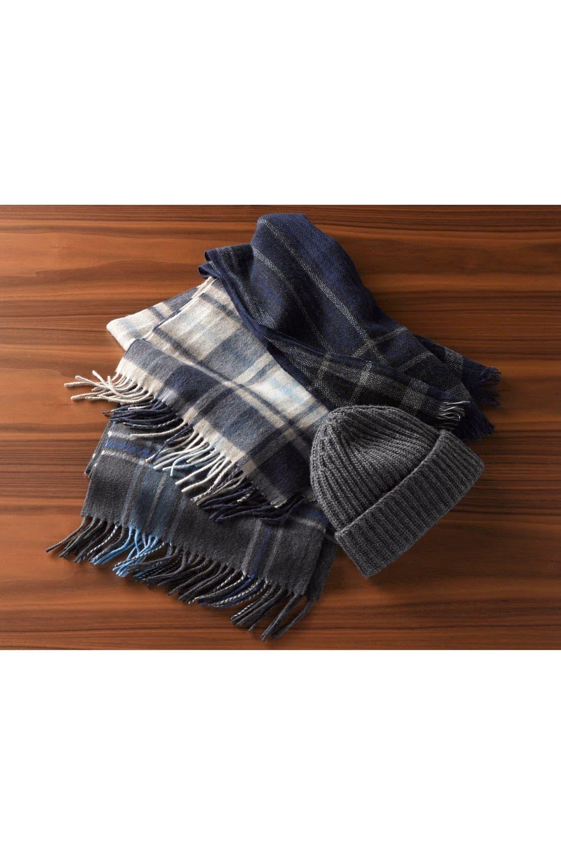 Rib Knit Wool & Cashmere Beanie,                             Main thumbnail 1, color,                             420