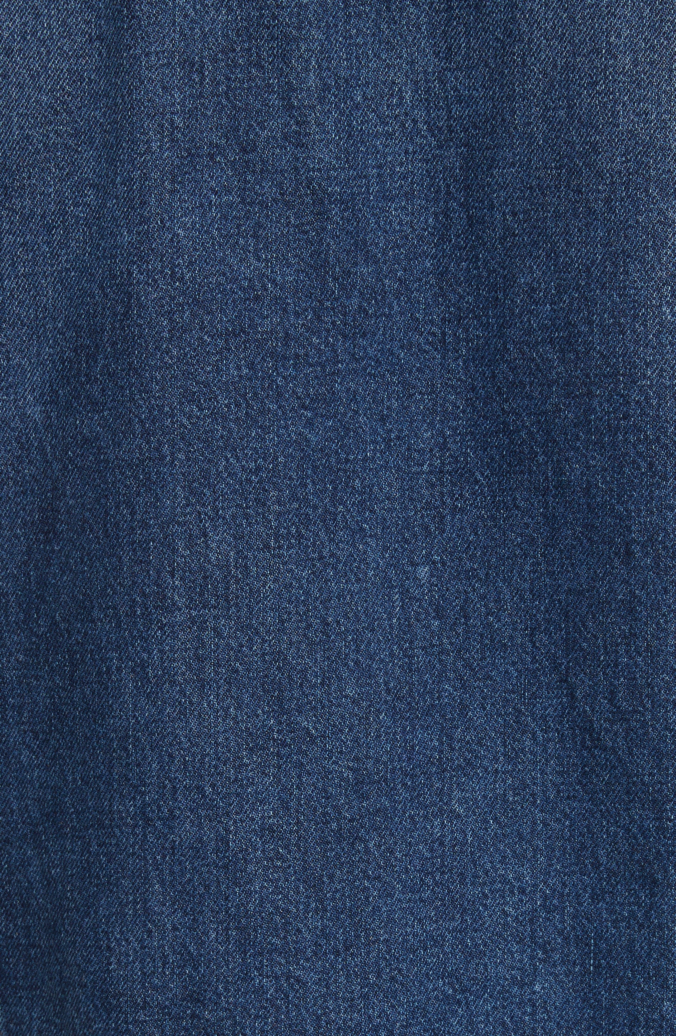 Denim Jacket,                             Alternate thumbnail 6, color,                             MID BLUE