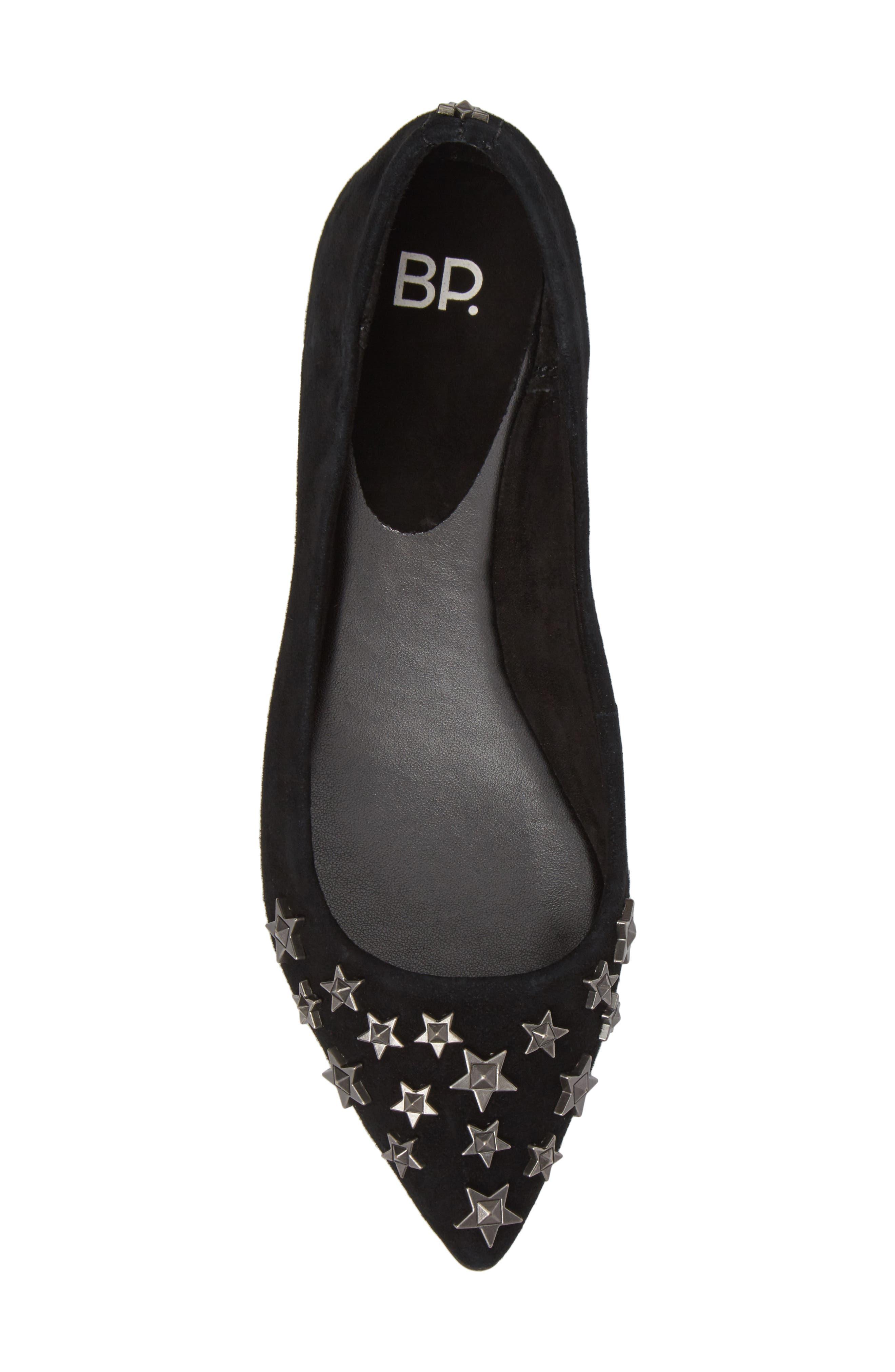 BP.,                             Stella Pointy Toe Flat,                             Alternate thumbnail 5, color,                             001