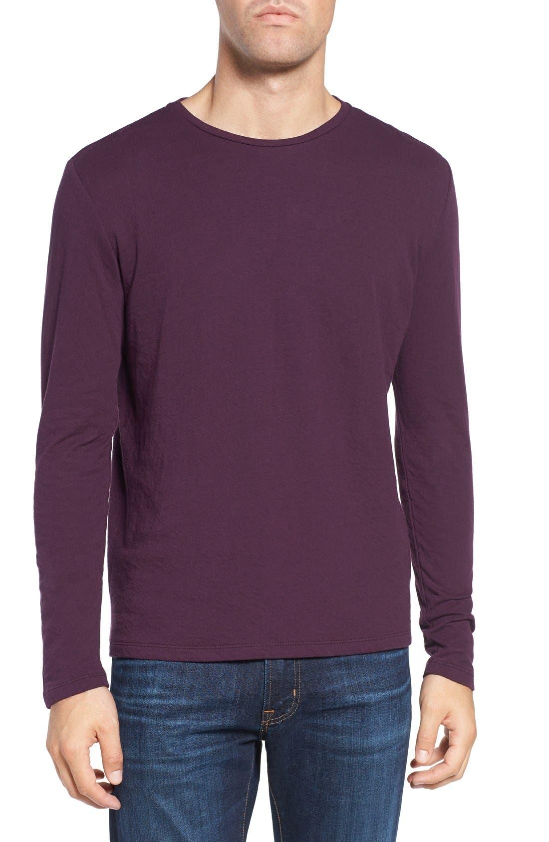 Long Sleeve Crewneck T-Shirt,                             Main thumbnail 4, color,