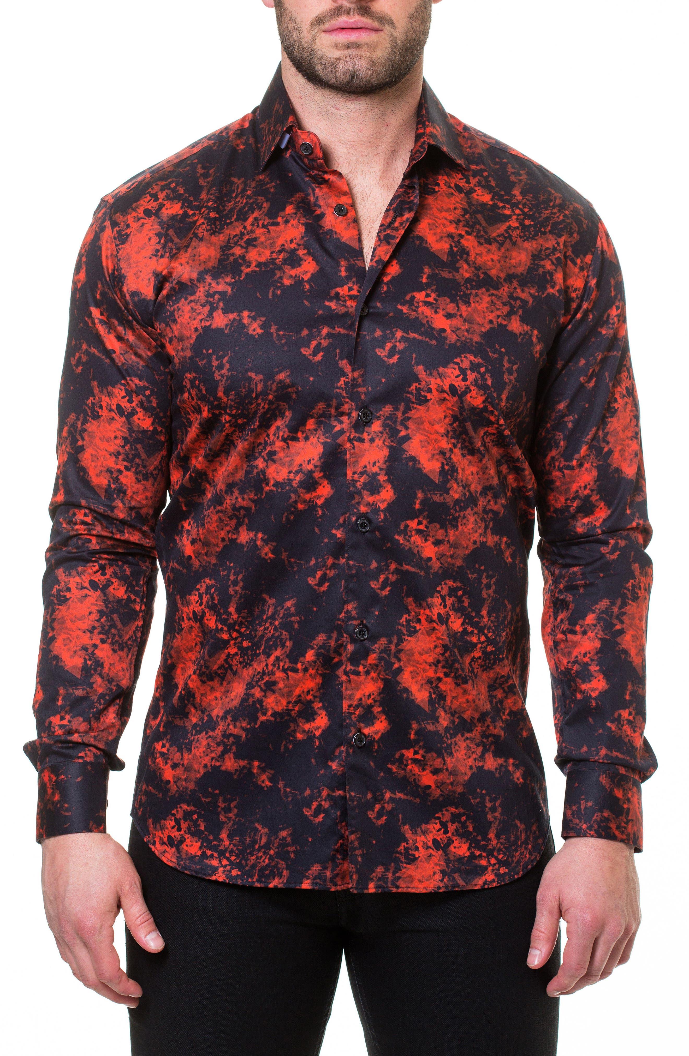 Luxor Fire Slim Fit Sport Shirt,                             Alternate thumbnail 4, color,