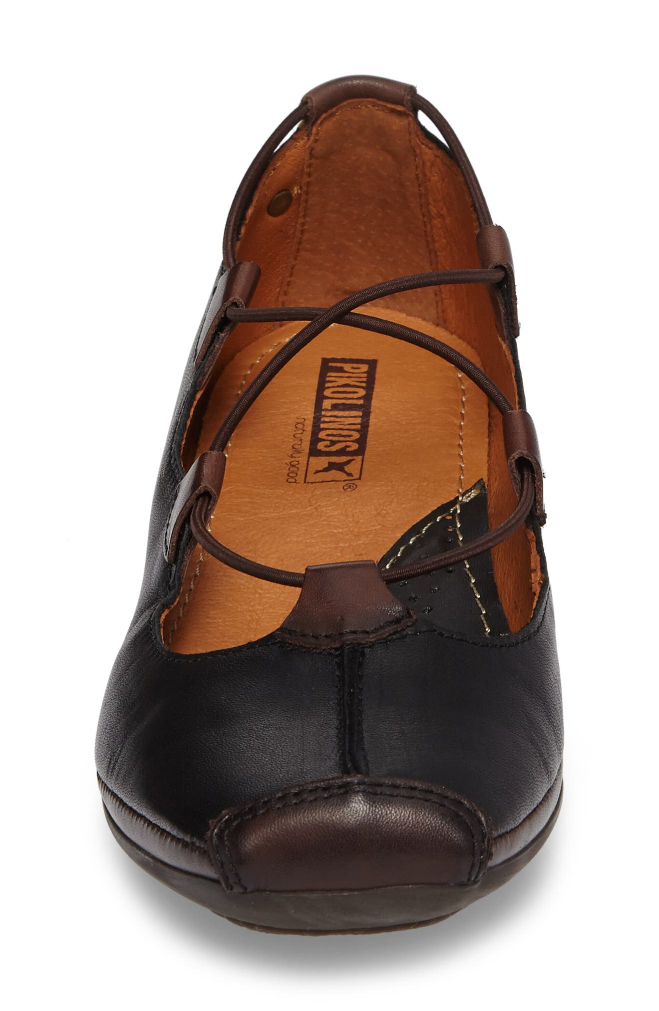 Gandia Lace-Up Pump,                             Alternate thumbnail 4, color,                             BLACK OLMO LEATHER