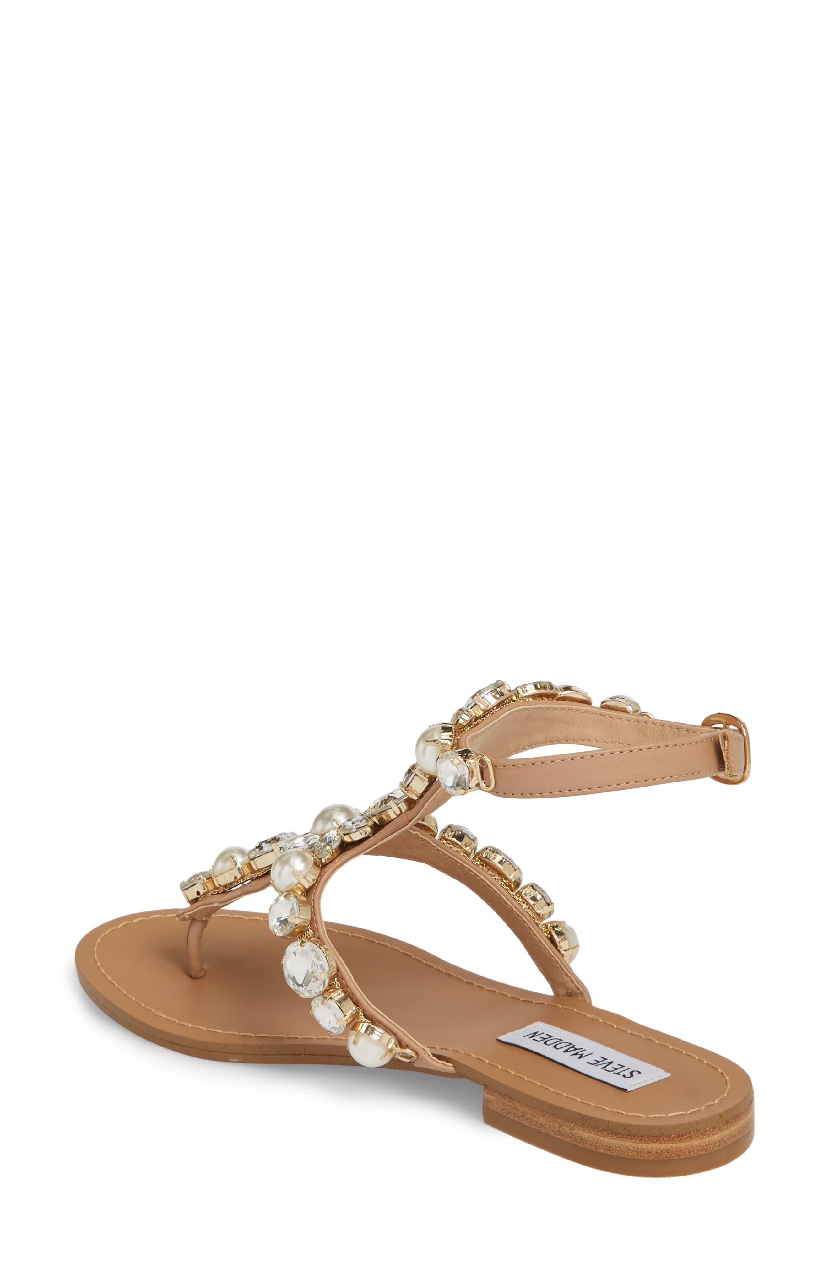 Chantel Crystal Embellished Sandal,                             Alternate thumbnail 4, color,