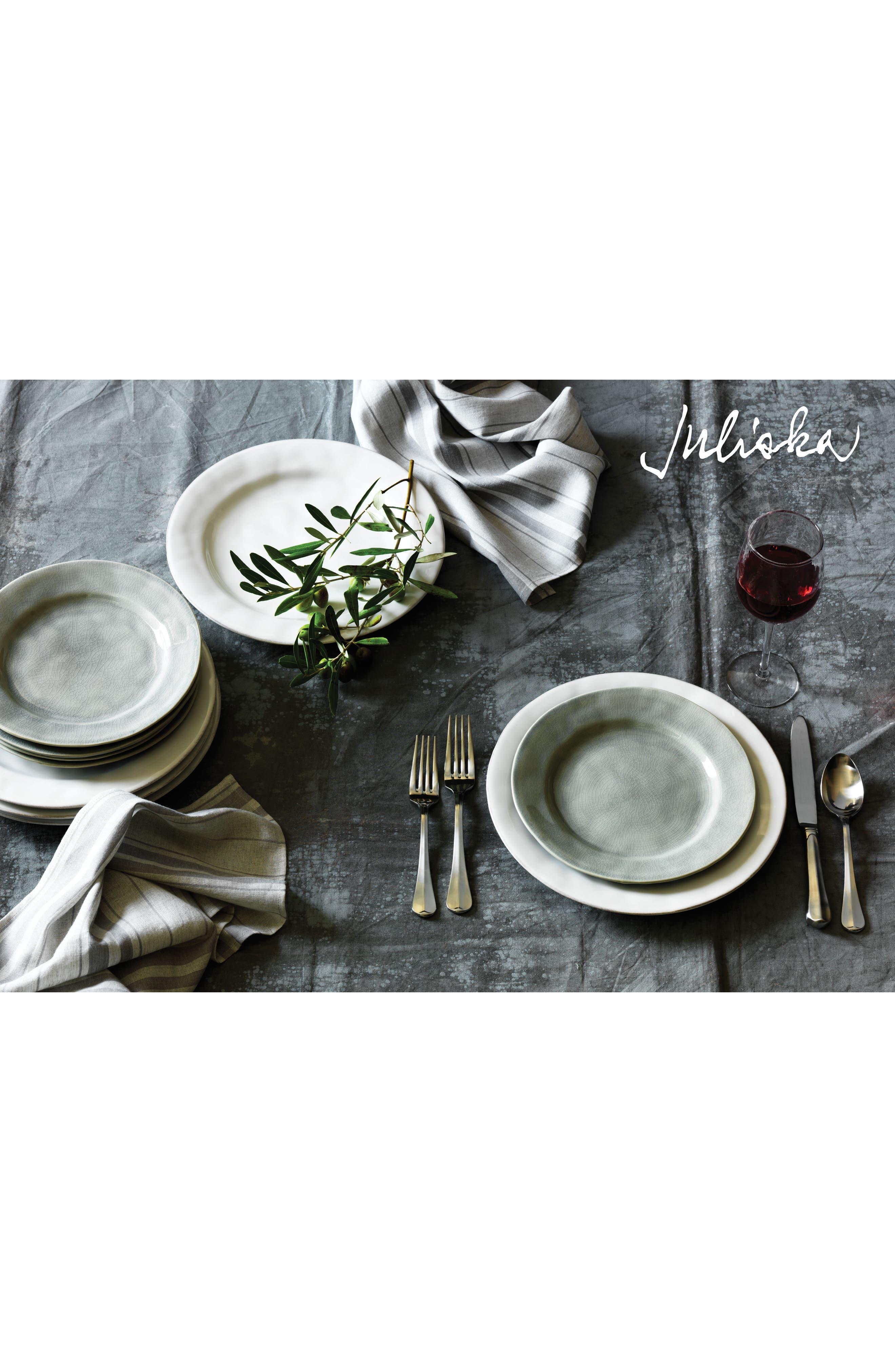 JULISKA,                             Puro Dessert Plate,                             Alternate thumbnail 2, color,                             MIST GREY CRACKLE