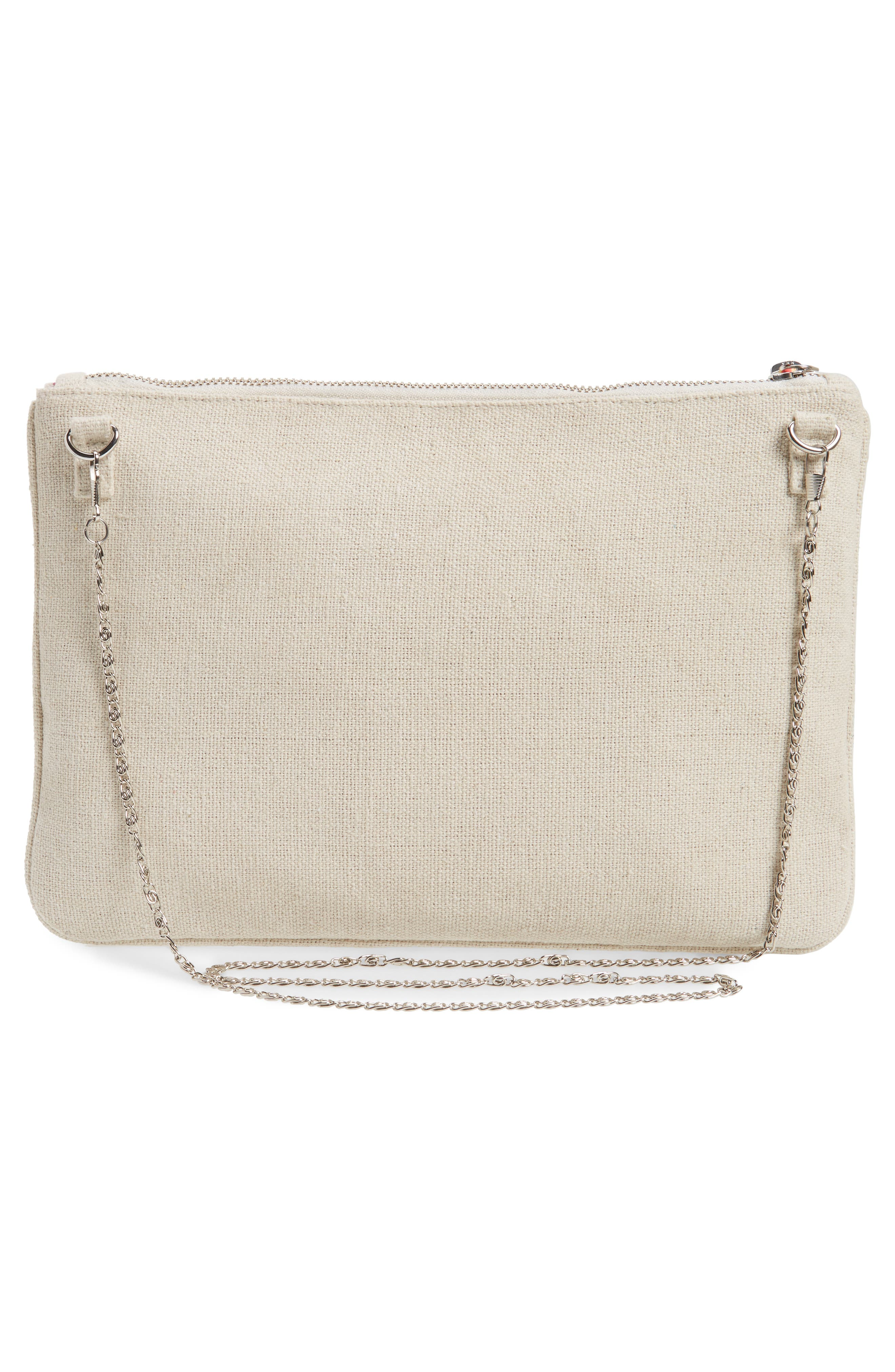 Rhinestone Appliqué Crossbody Clutch,                             Alternate thumbnail 3, color,                             250