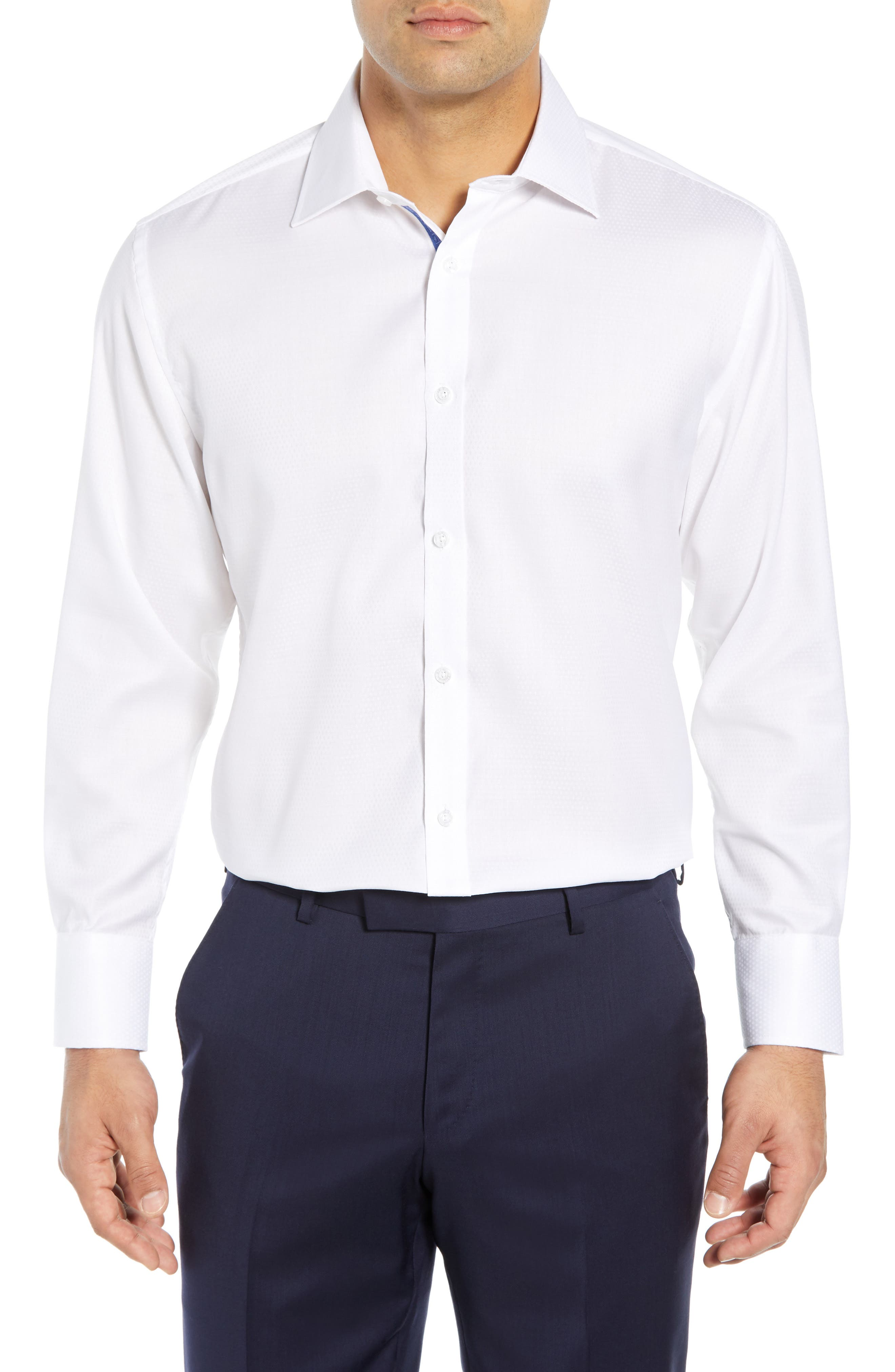 ENGLISH LAUNDRY Regular Fit Solid Dress Shirt in White