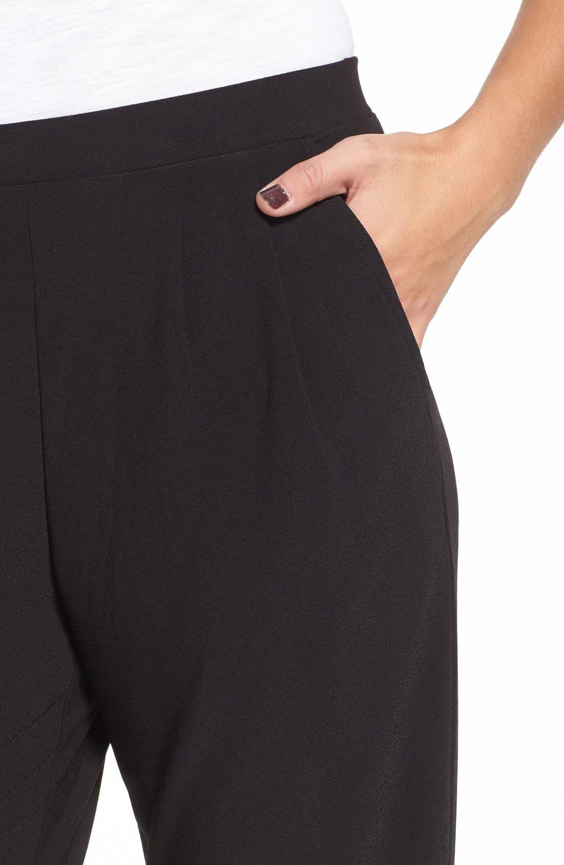 Pleat Front Trousers,                             Alternate thumbnail 10, color,                             BLACK