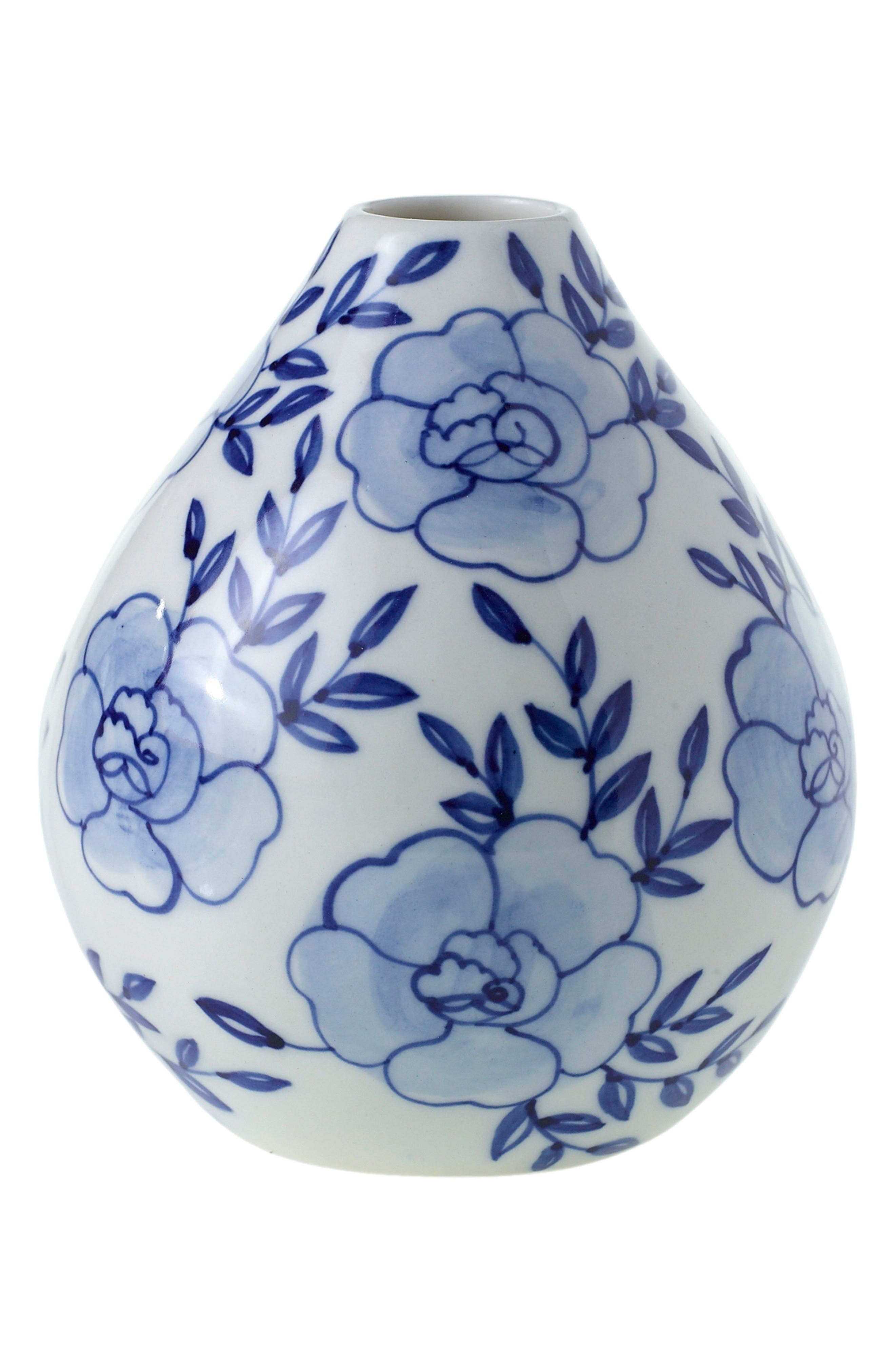 Eleanor Hand Painted Ceramic Bud Vase,                             Main thumbnail 1, color,