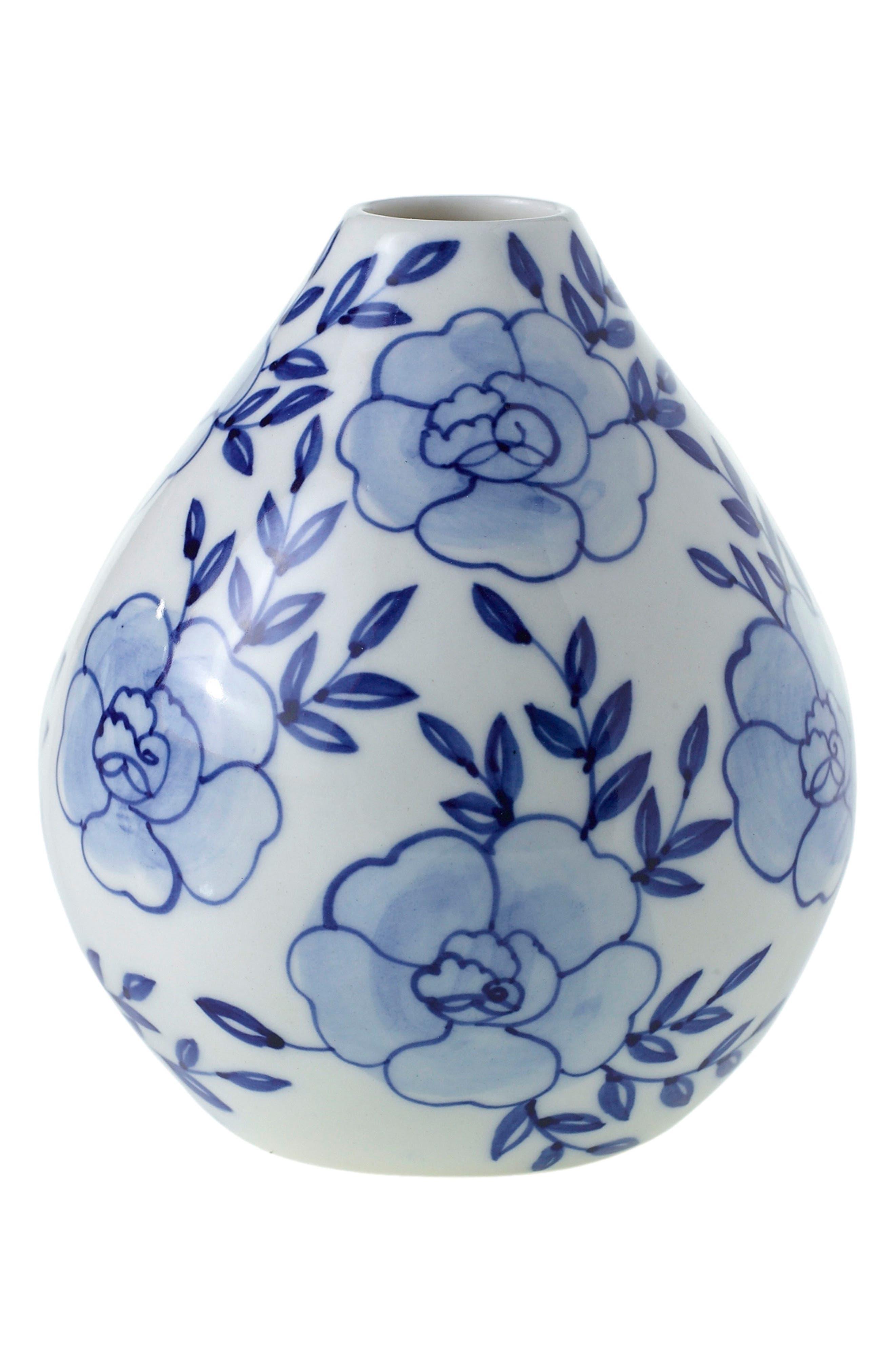Eleanor Hand Painted Ceramic Bud Vase,                         Main,                         color,