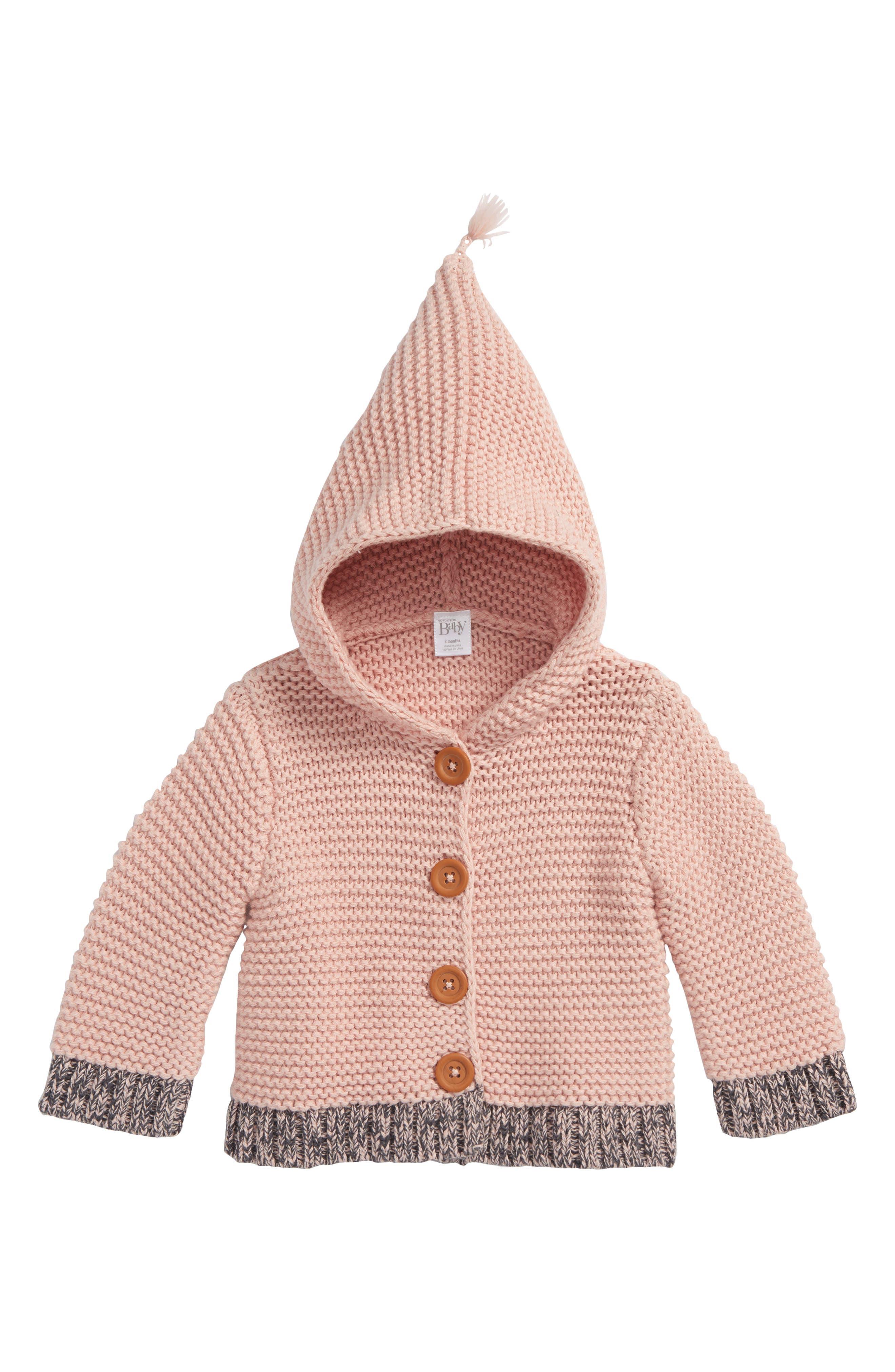 Organic Cotton Hooded Cardigan,                             Main thumbnail 1, color,                             680