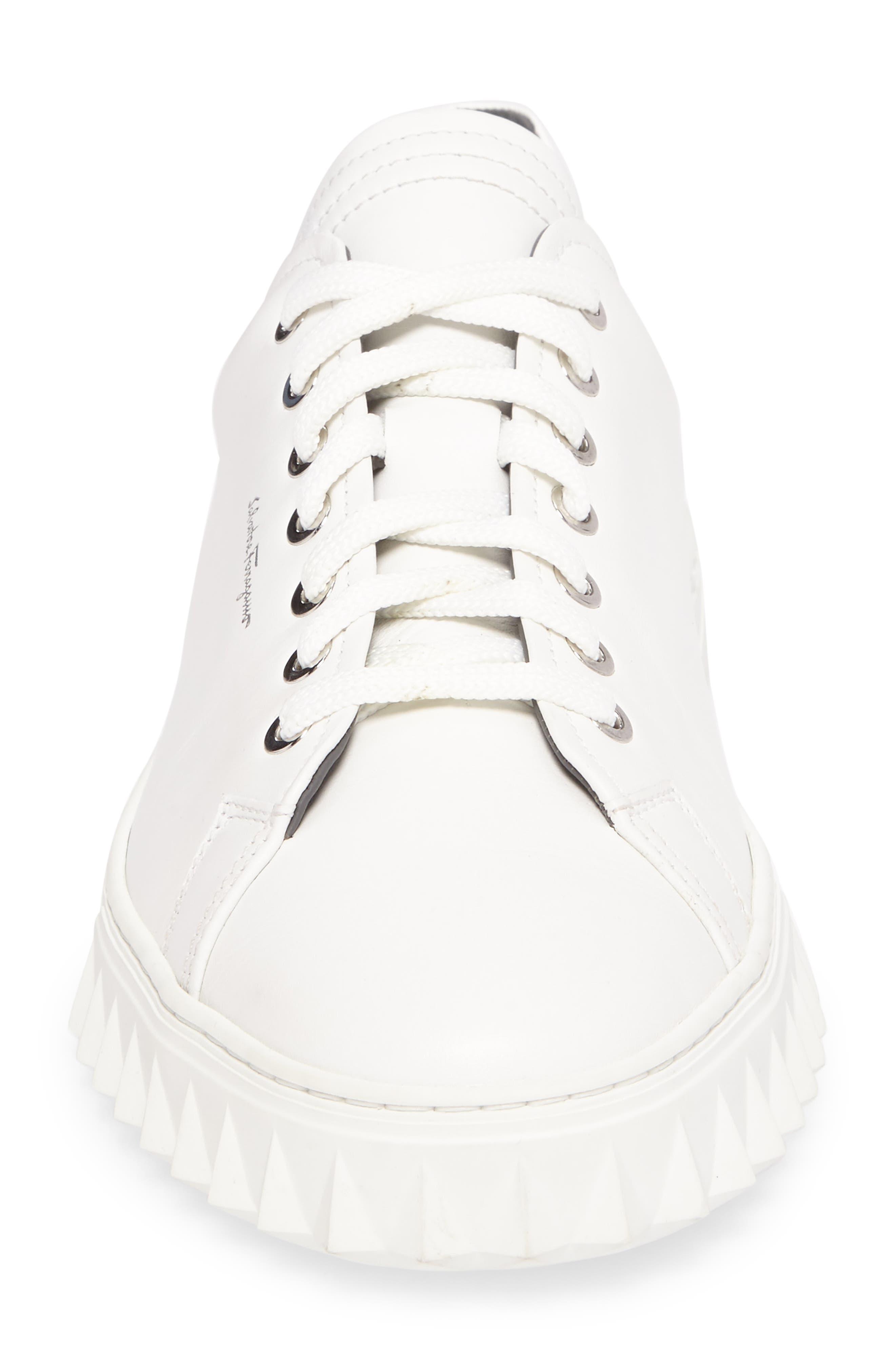 Cube Sneaker,                             Alternate thumbnail 4, color,                             BIANCO