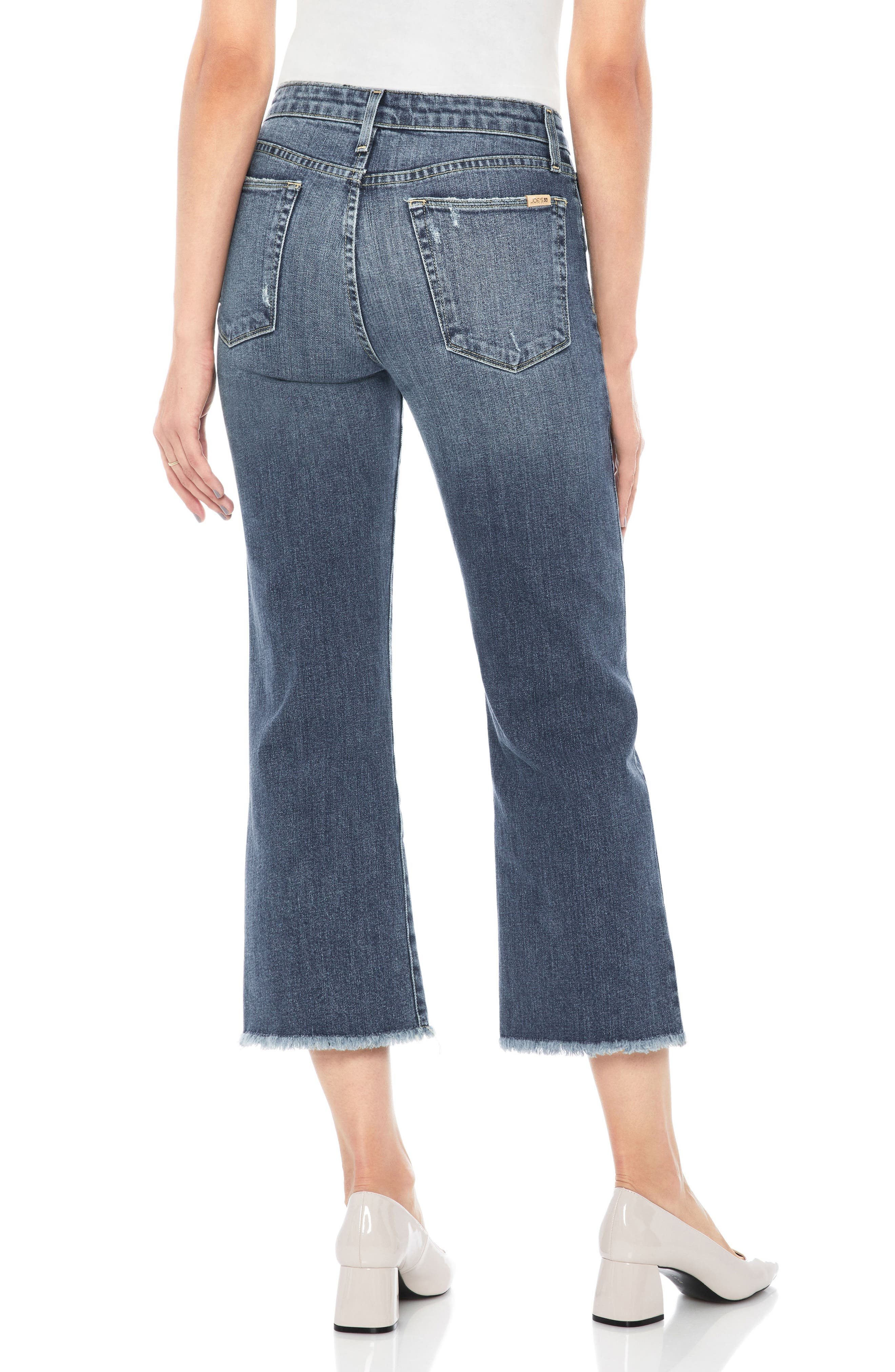 Wyatt Crop Wide Leg Jeans,                             Alternate thumbnail 2, color,                             SAXON