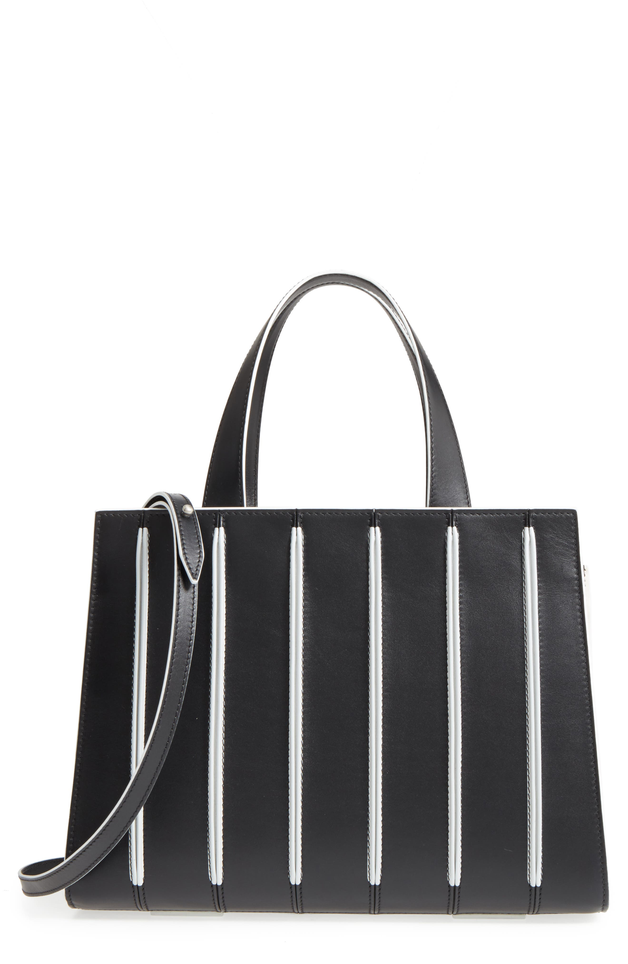 Medium Whitney Leather Tote,                         Main,                         color, 001
